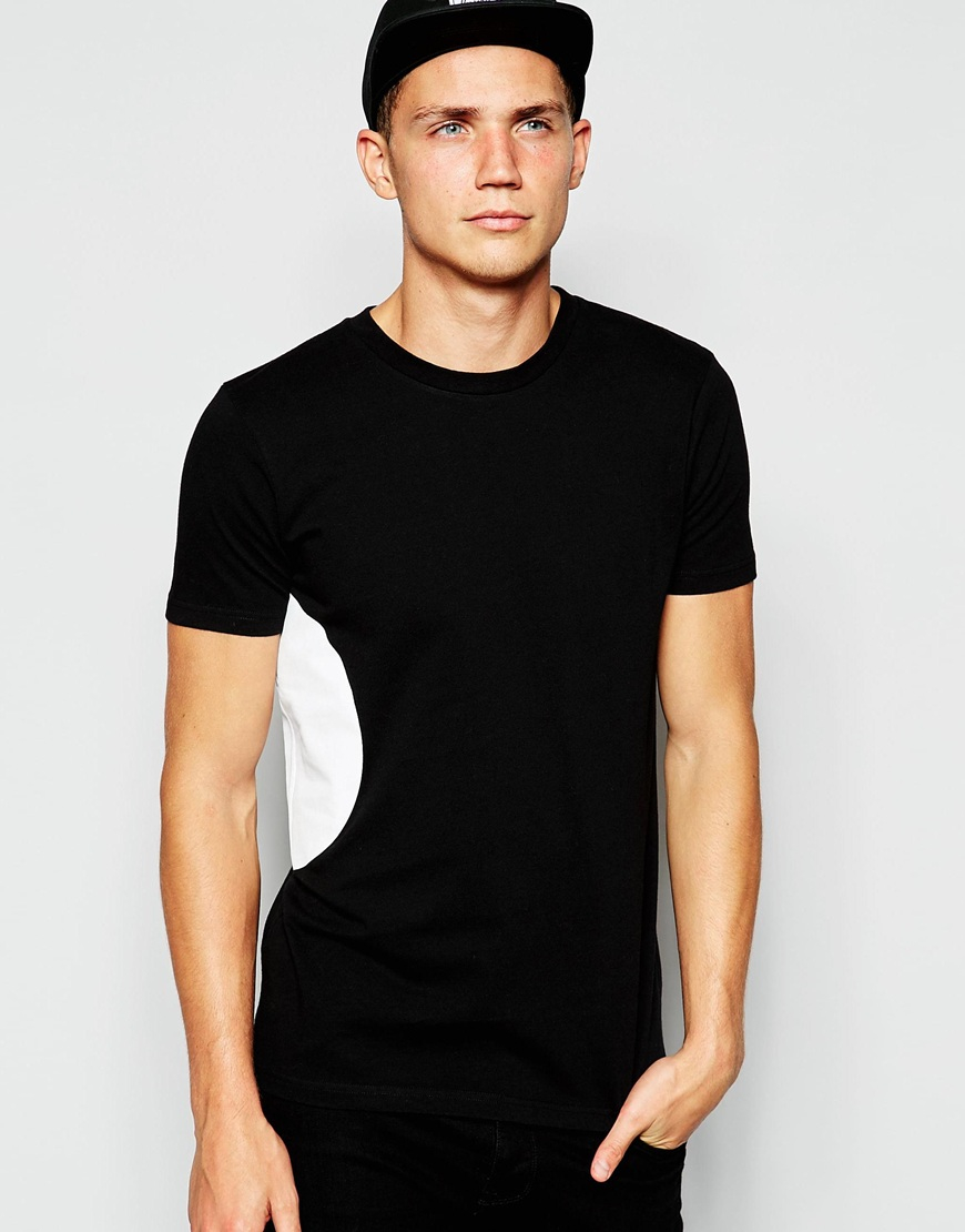 Lyst Han Kjobenhavn Han T Shirt With Side Circle Print