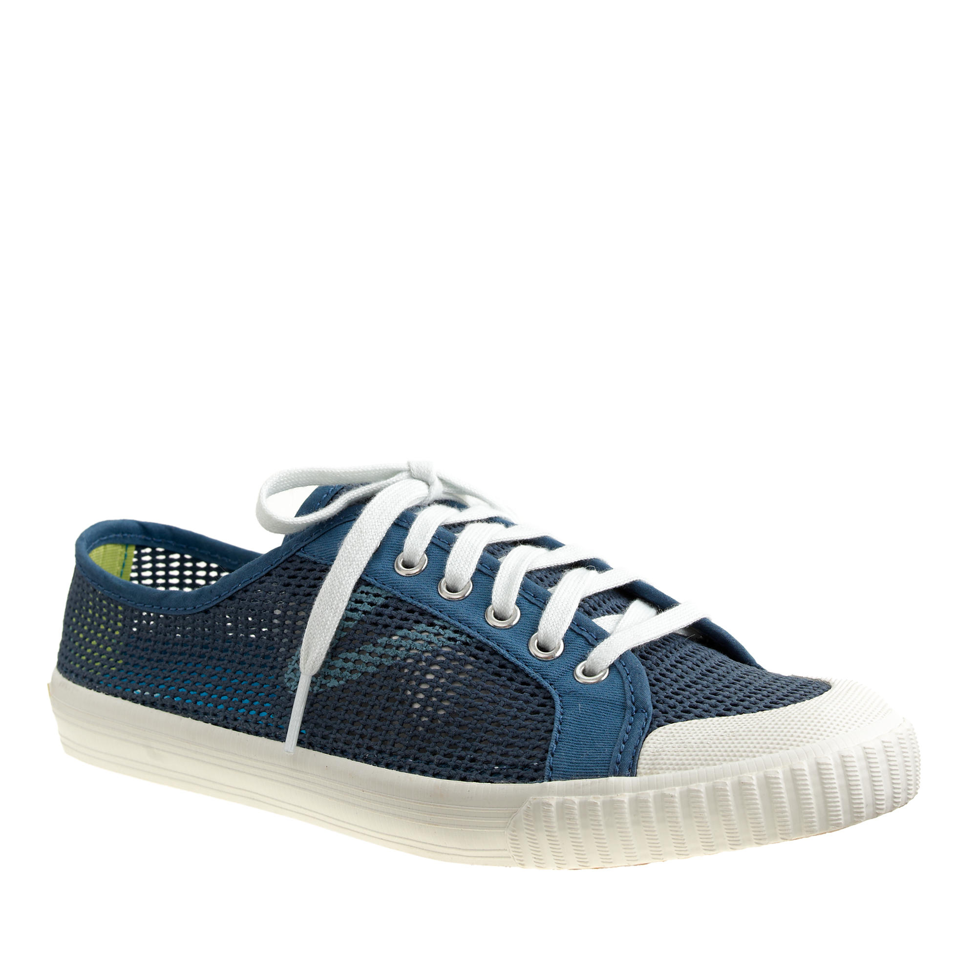 j crew s tretorn tournament net sneakers in blue lyst