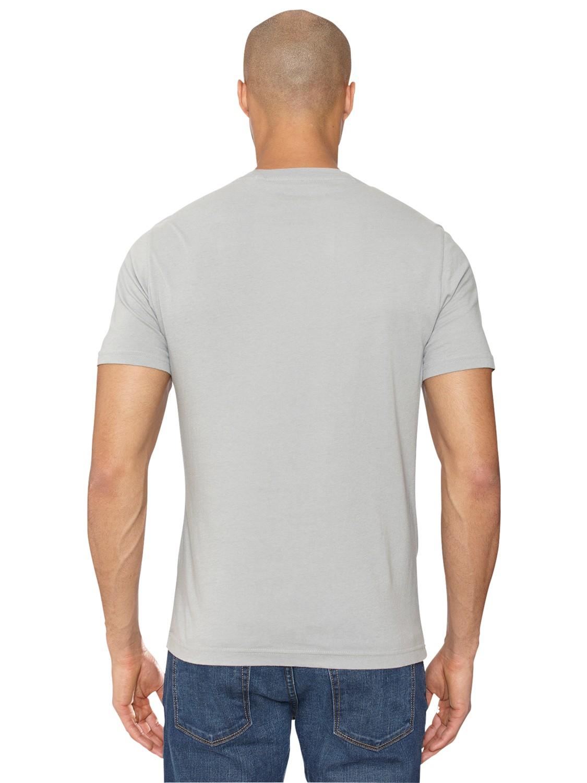 Original Penguin Distressed Logo Circle Tshirt in Grey (Grey) for Men