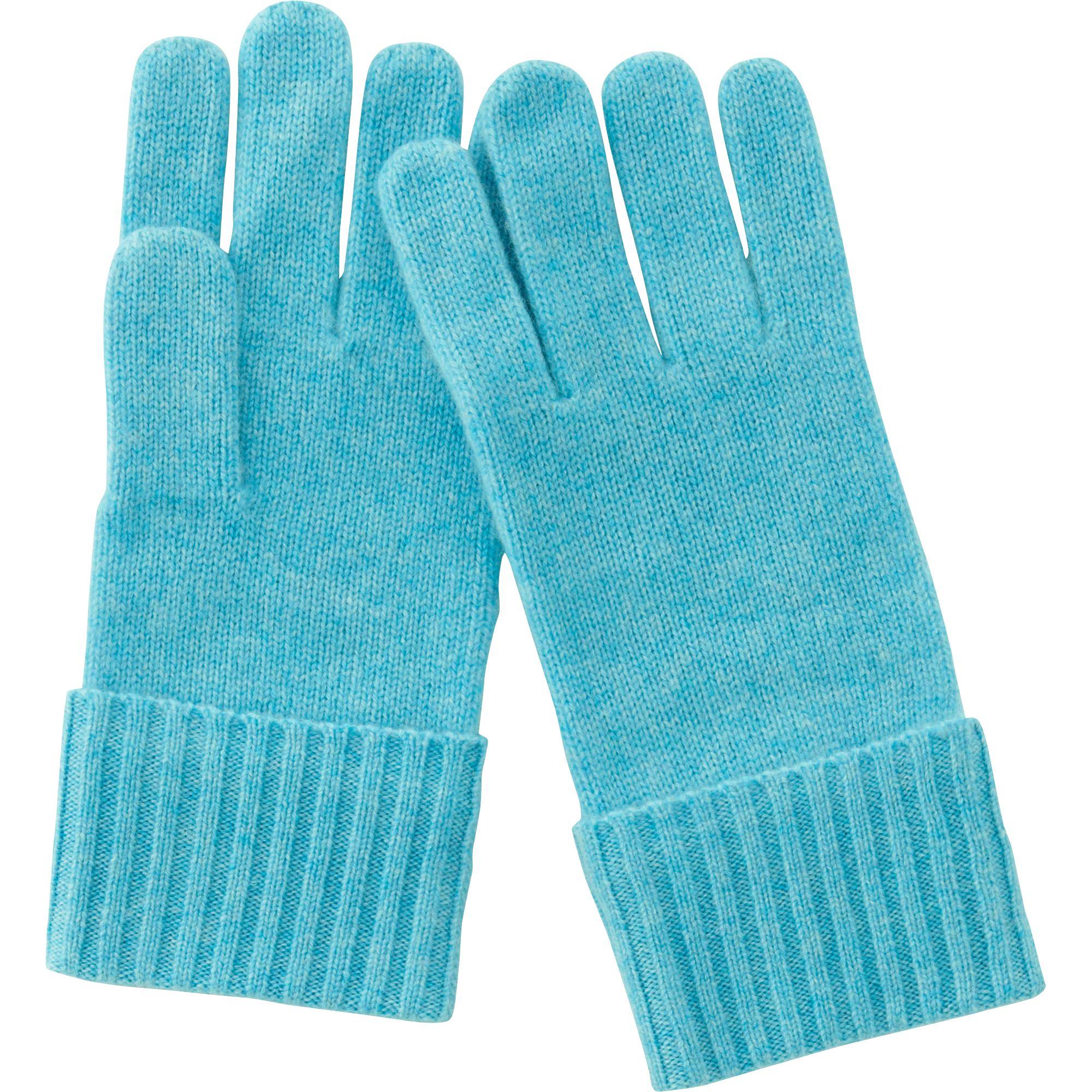 Uniqlo Cashmere Knit Gloves in Blue  3186337e9e82