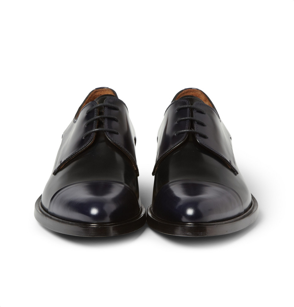 Givenchy Polished Leather Oxford Shoes In Black For Men Lyst