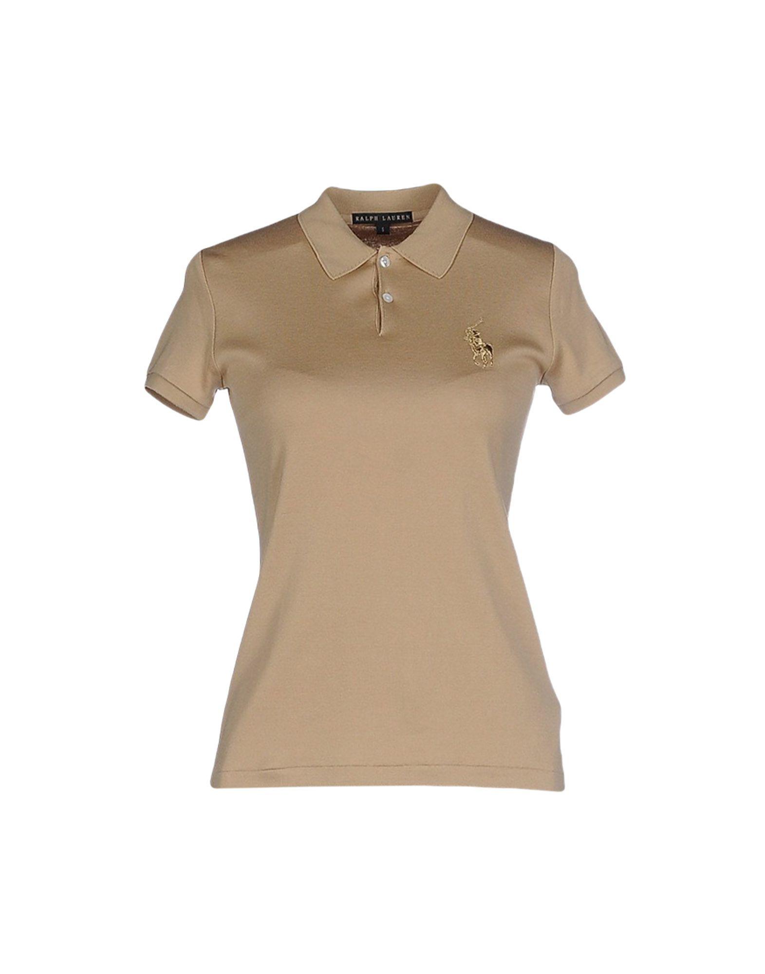 Ralph lauren black label polo shirt in beige camel lyst for Ralph lauren black label polo shirt