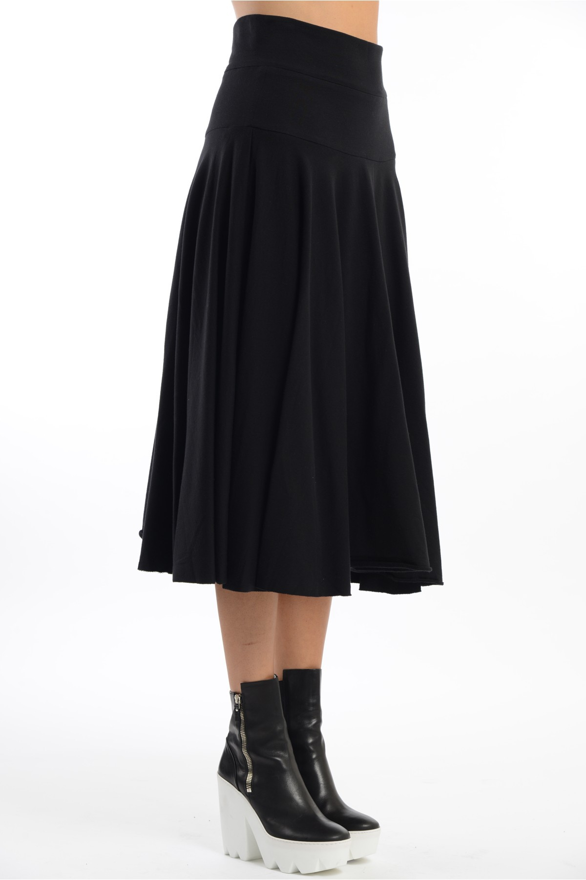 norma kamali high waisted circle skirt in black lyst
