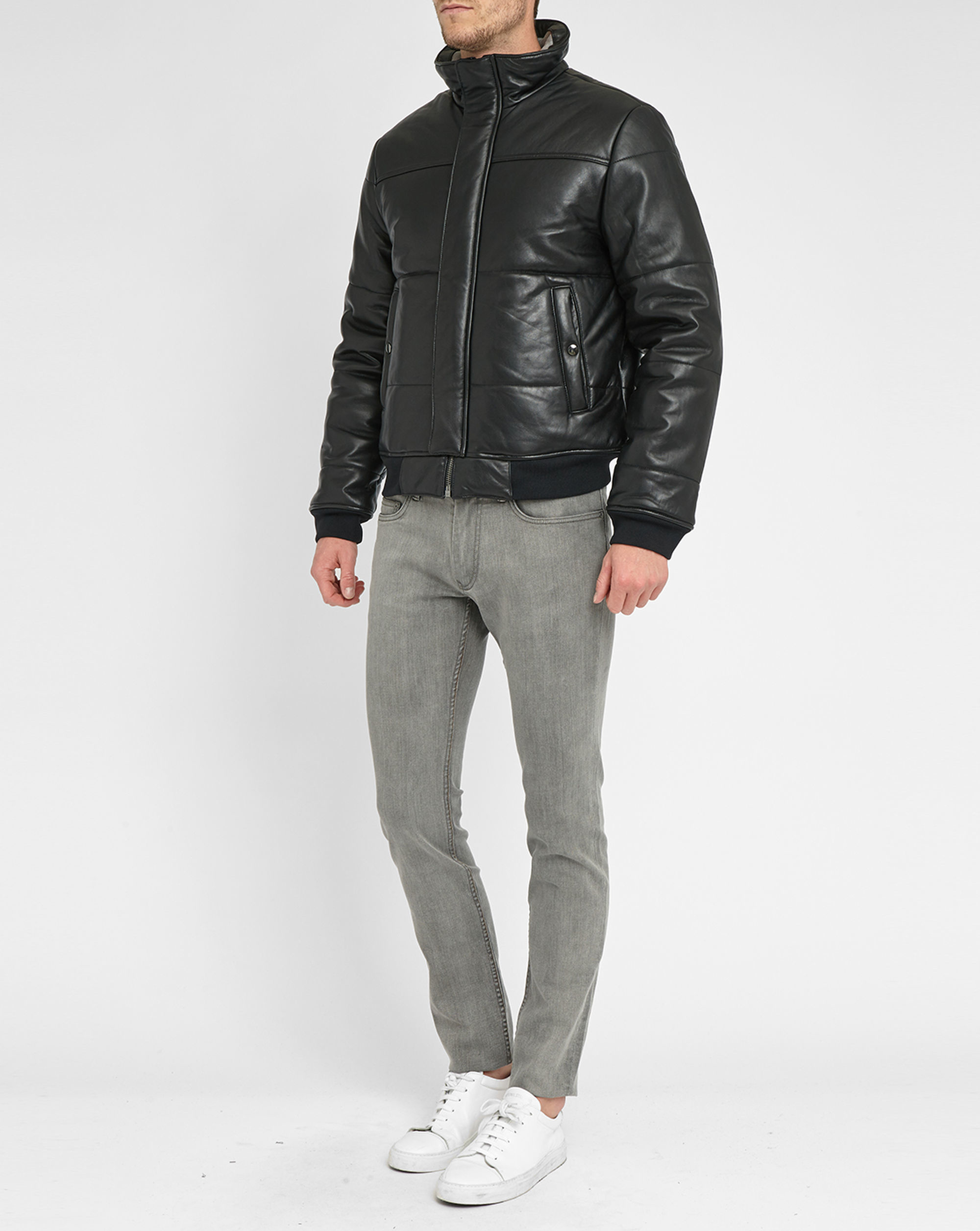 Marc by marc jacobs Black Hudson Leather Down Jacket in ...