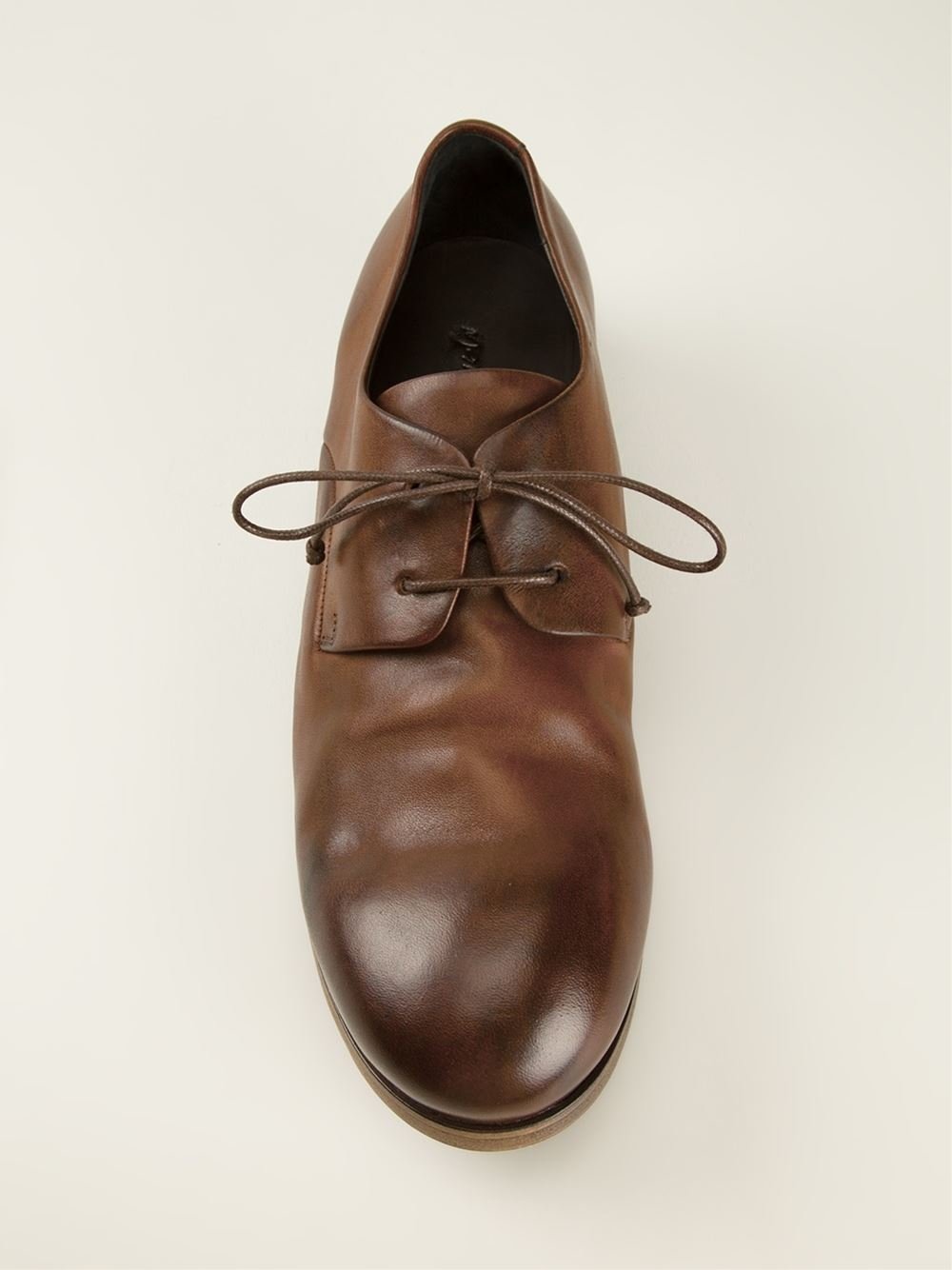 Marsèll Distressed Derby Shoes in Brown
