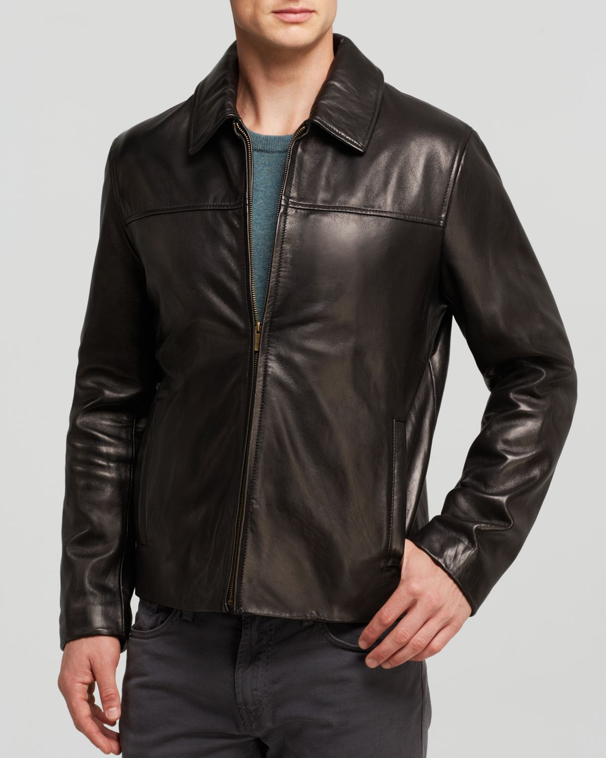 f6ce69227 Cole Haan Black Smooth Lamb Jacket for men