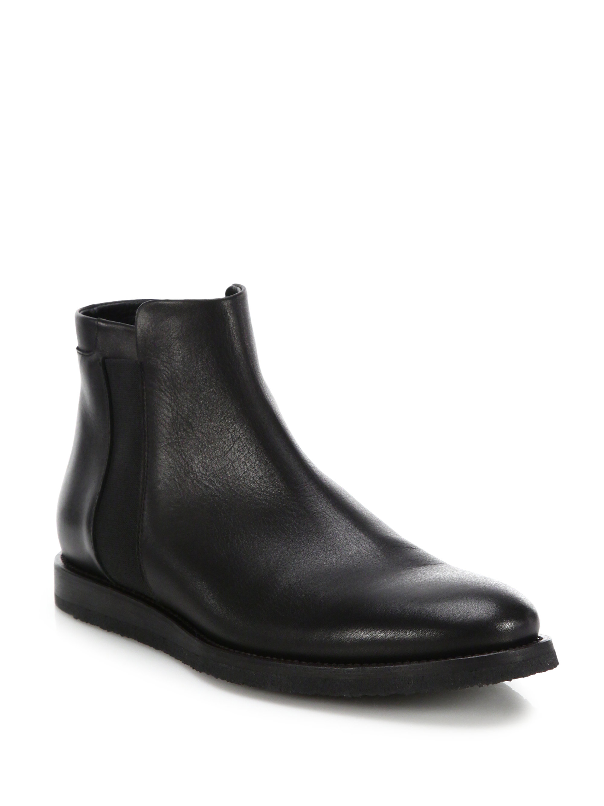 lyst vince hayes leather chelsea boots in black for men. Black Bedroom Furniture Sets. Home Design Ideas