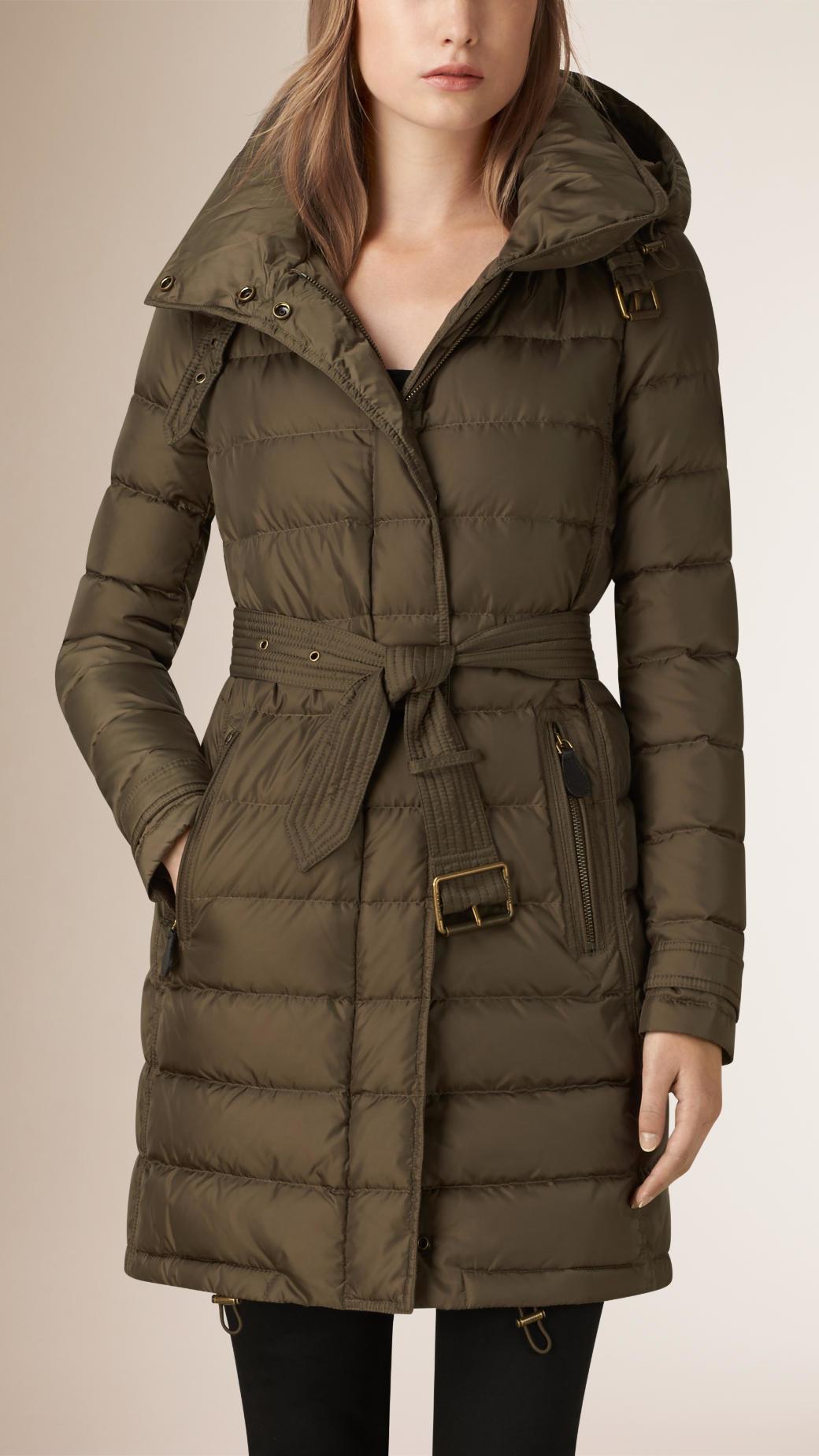 3698ec54e Burberry Down-filled Puffer Coat in Brown - Lyst