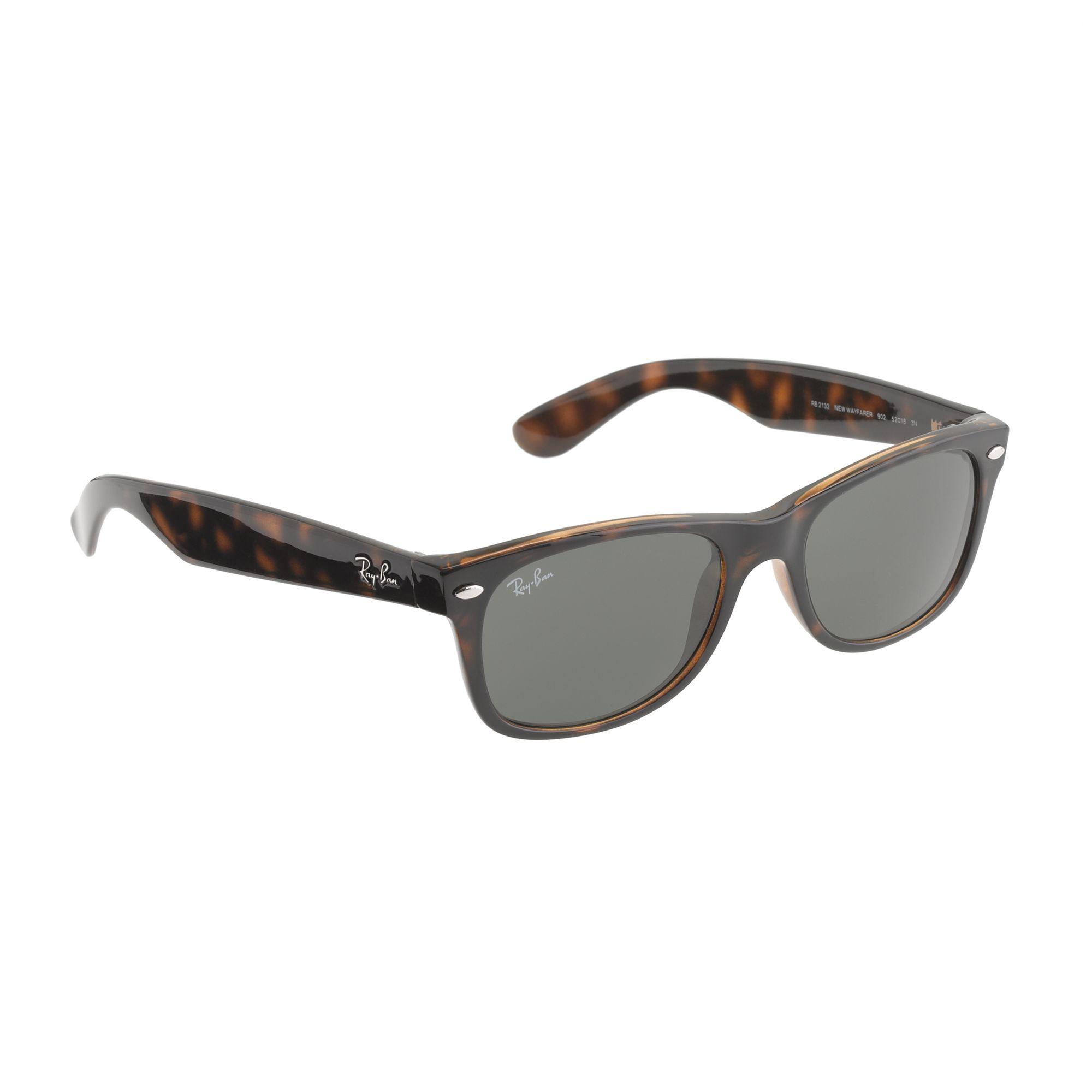ray ban new wayfarer sunglasses in brown for men tortoise lyst. Black Bedroom Furniture Sets. Home Design Ideas