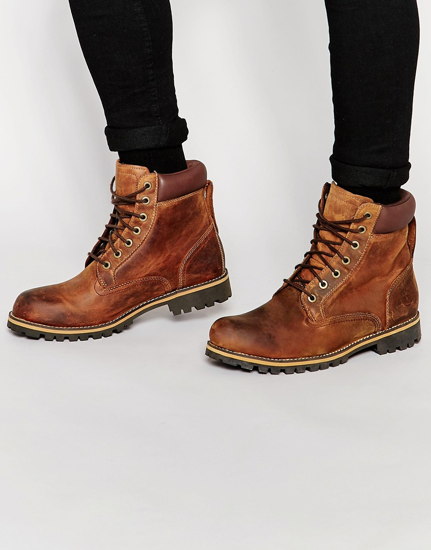 Timberland Leather Rugged 6 Inch Boots In Brown Lyst
