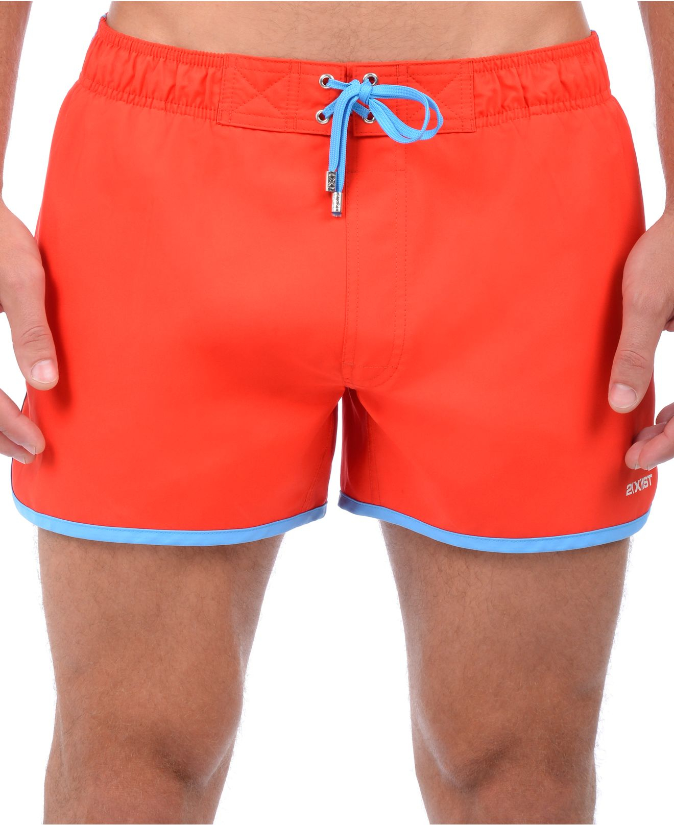 2xist 2 x ist performance quick dry swim trunks in red for men lyst. Black Bedroom Furniture Sets. Home Design Ideas