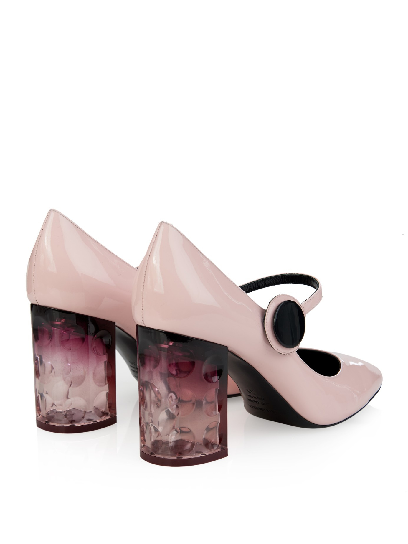 Pink Block Heel Shoes