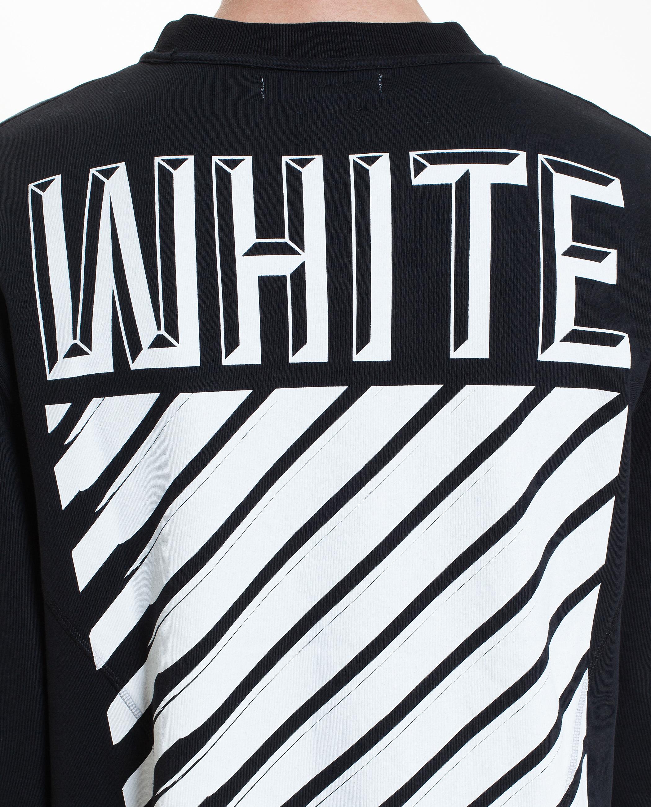 lyst off white c o virgil abloh 3d logo sweatshirt in black. Black Bedroom Furniture Sets. Home Design Ideas