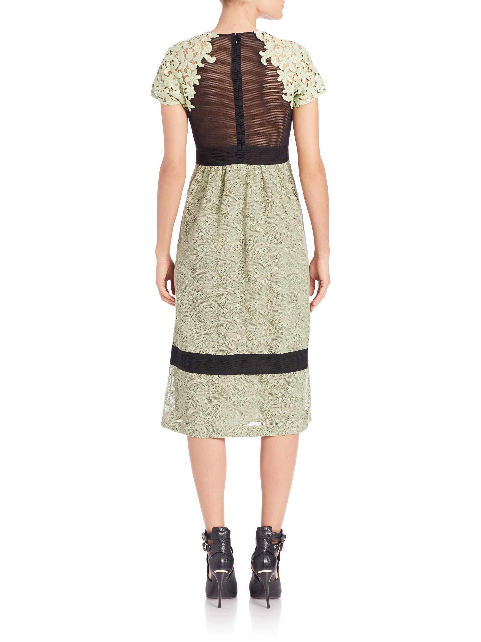 11122a877cc Burberry Prorsum Green Lace Dress