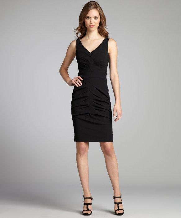 Ruched V-Neck Dresses