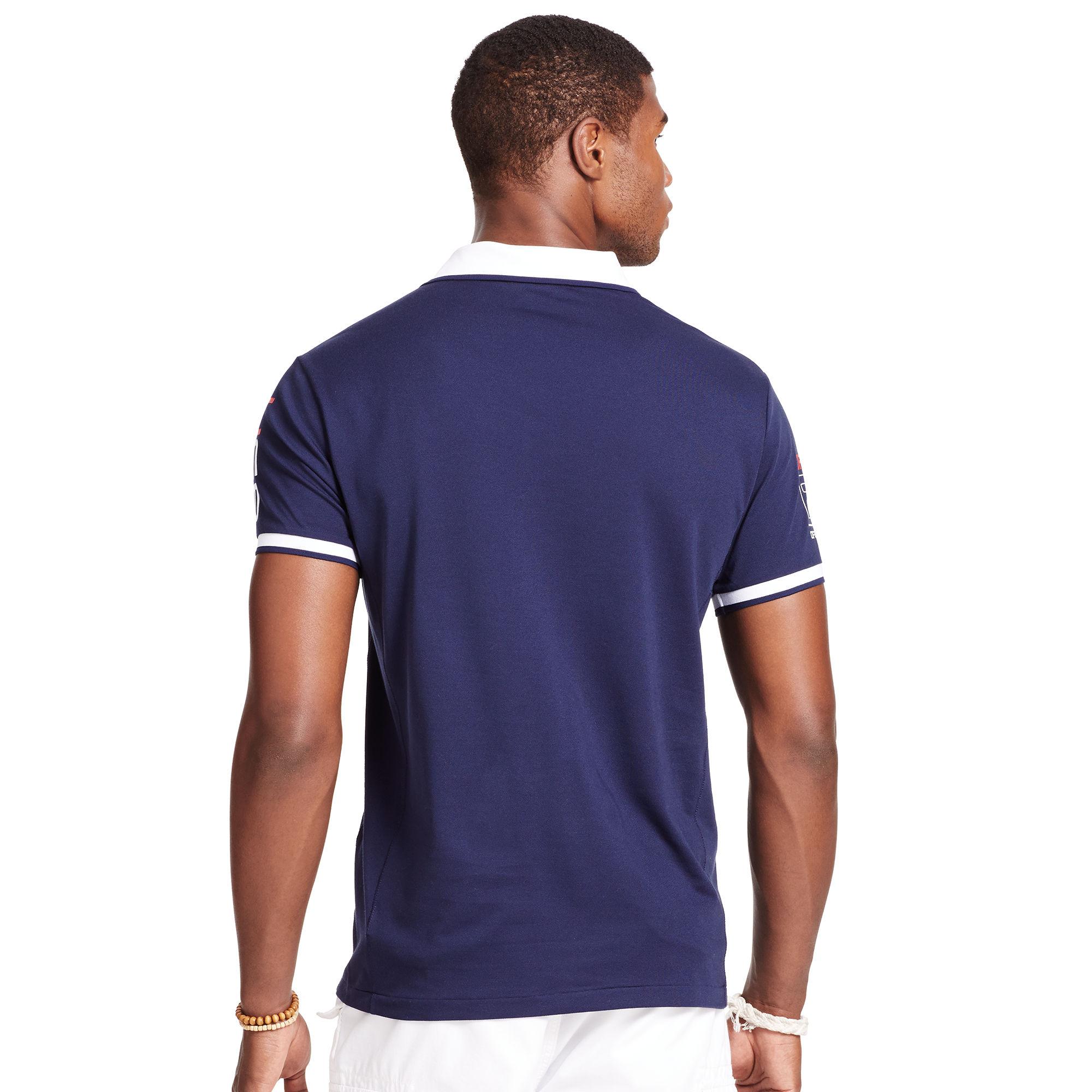 a162723c4ec ... coupon code for polo ralph lauren polo open 65 polo shirt in blue for men  lyst ...