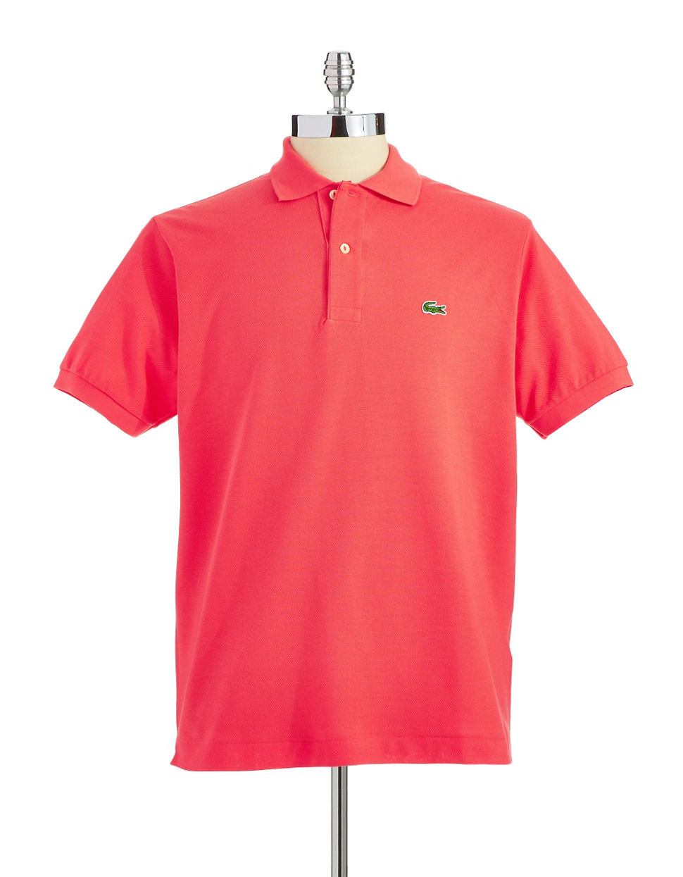 Lacoste Pique Cotton Polo Shirt in Pink for Men (Pink ...