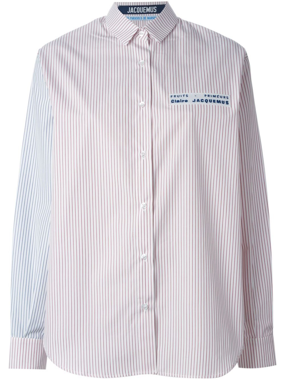 Jacquemus striped shirt in pink lyst for Pink white striped shirt