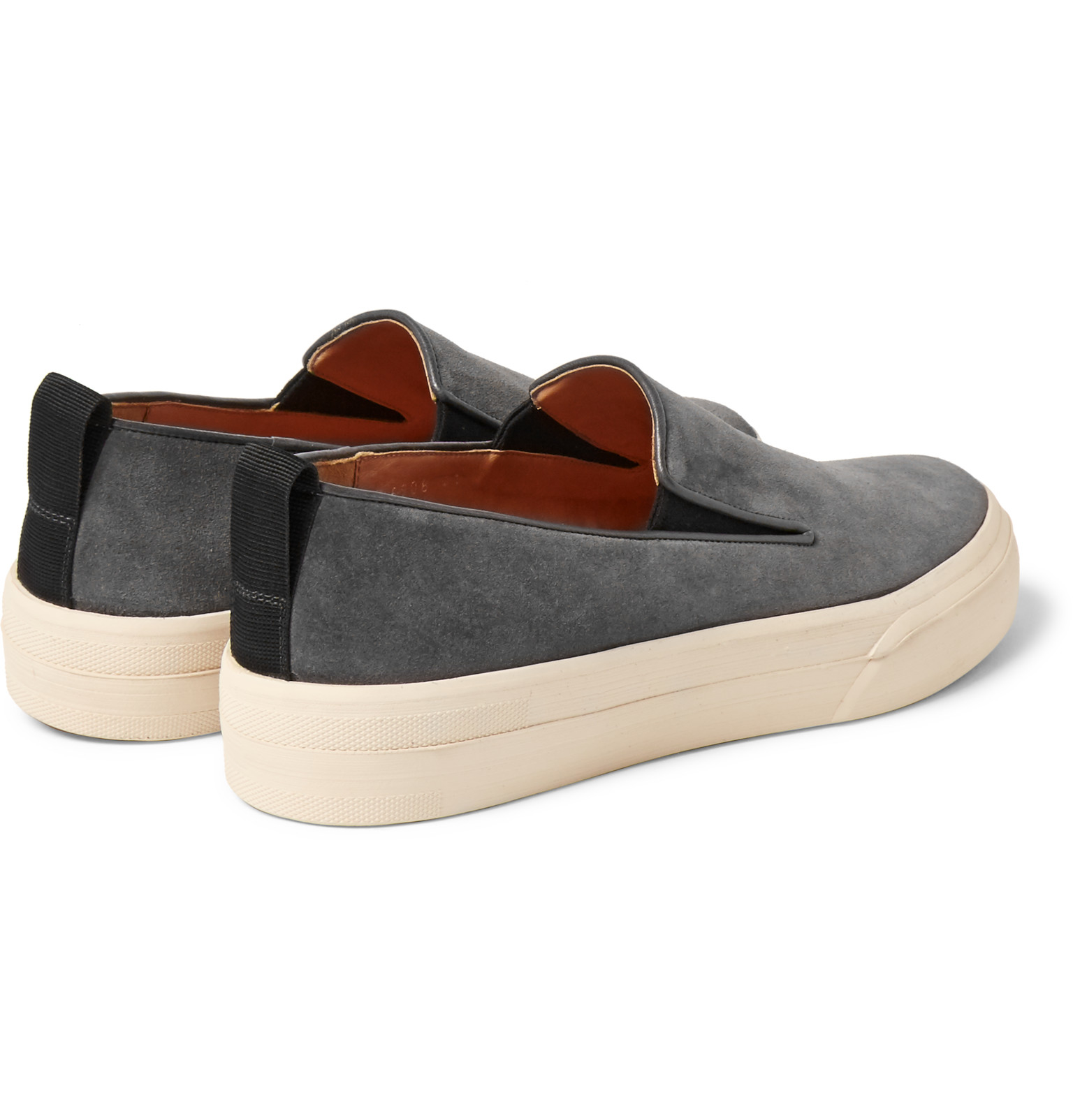c1b8f8c1821 Dries Van Noten Suede Slip-on Sneakers in Gray for Men - Lyst