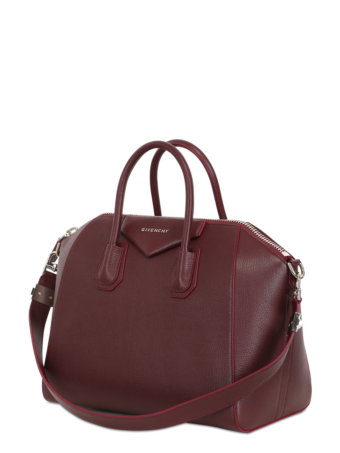 043fb9af325c Fabulous Lyst - Givenchy Antigona Leather Tote in Red PN28