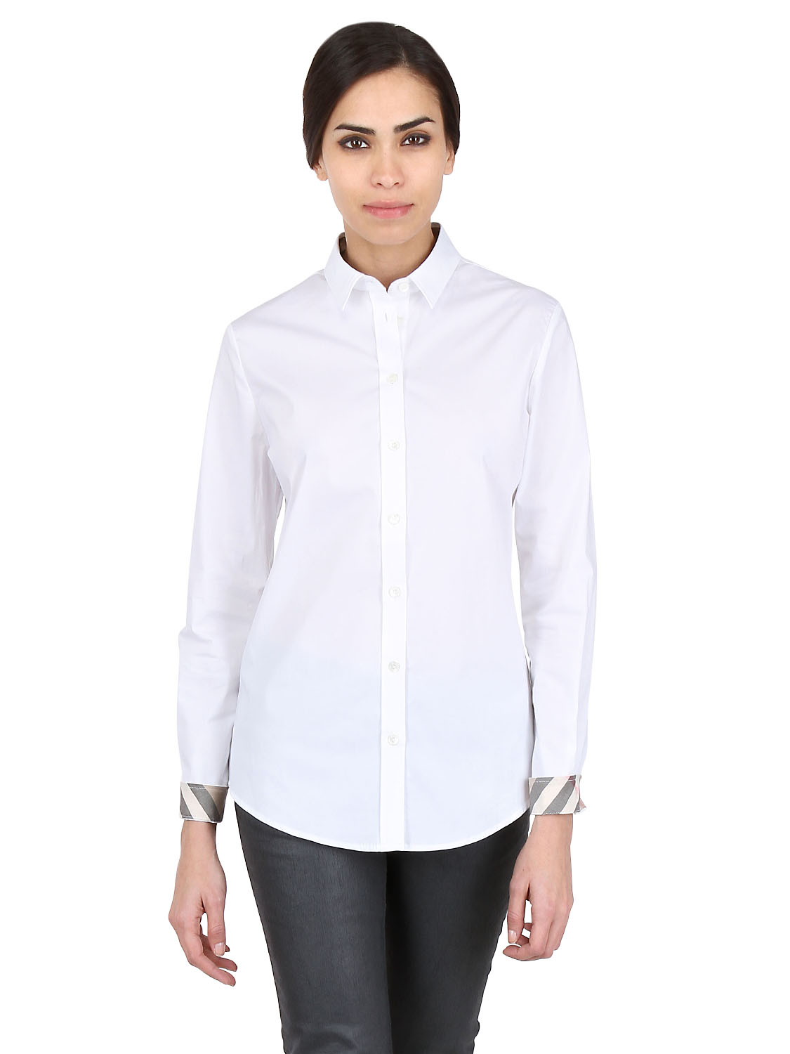Burberry Brit Stretch Cotton Oxford Shirt In White Lyst