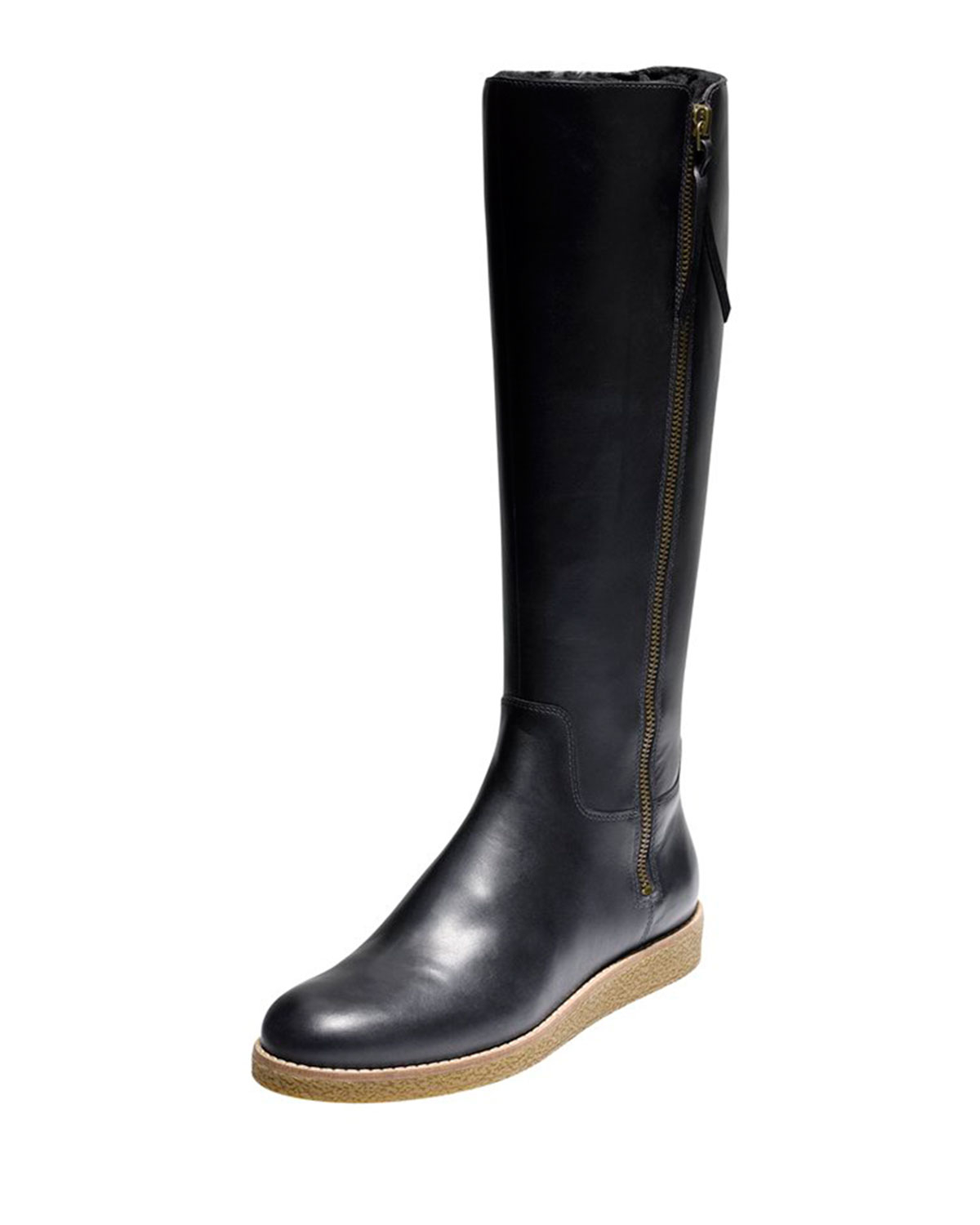 cole haan auden leather boot in black lyst