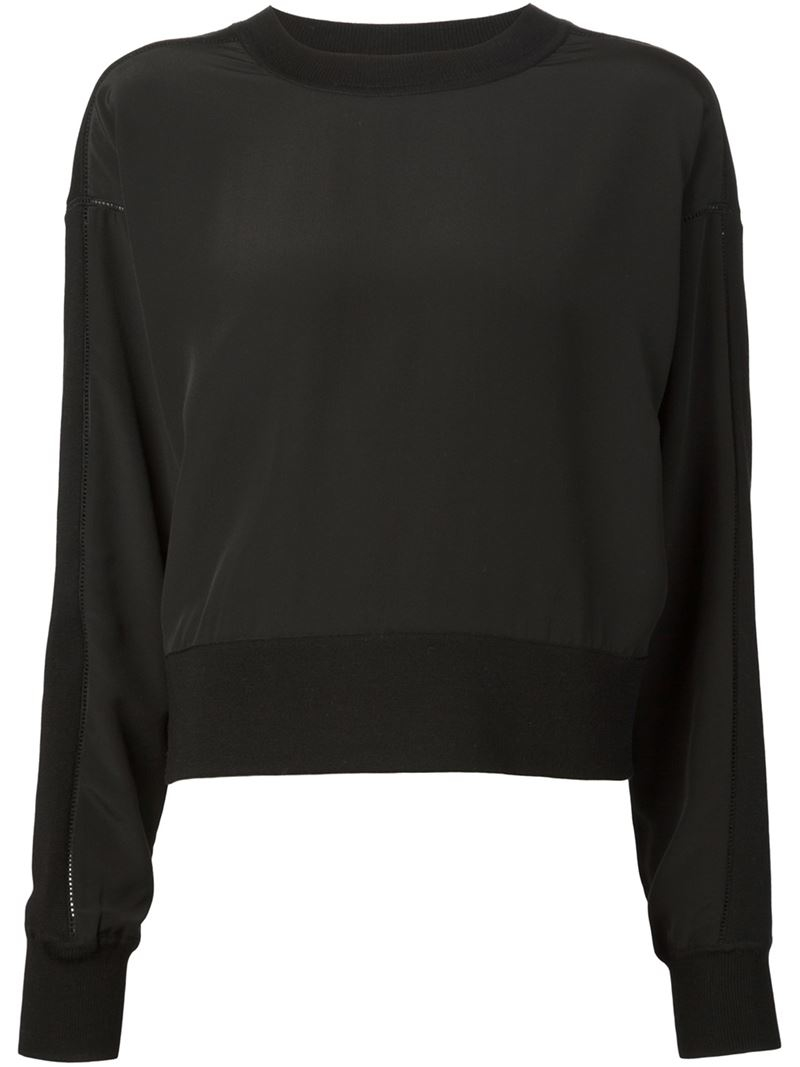 how to make a cropped sweatshirt