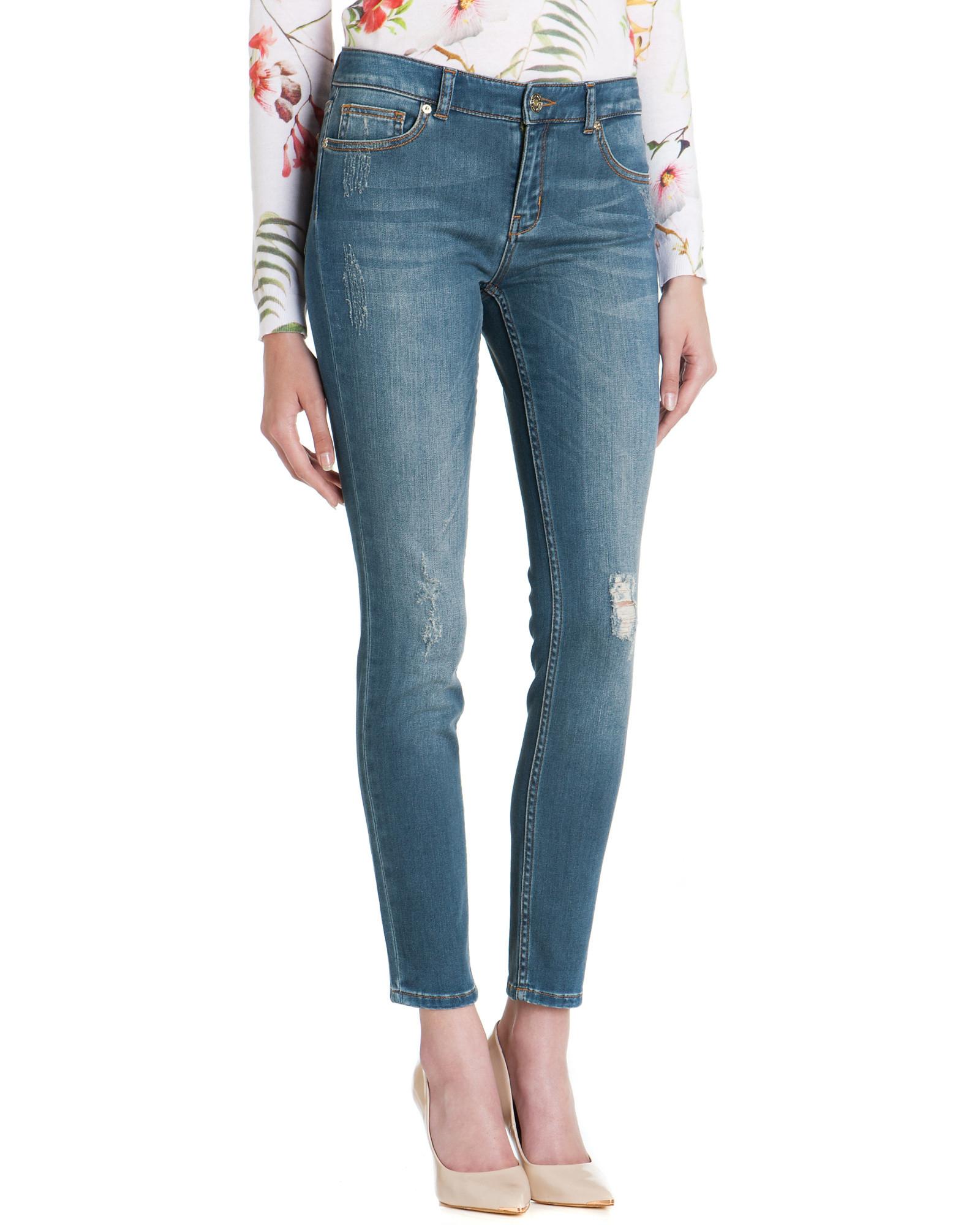 Ted Baker Denim Highje High Waisted Jeans in Light Wash (Blue)