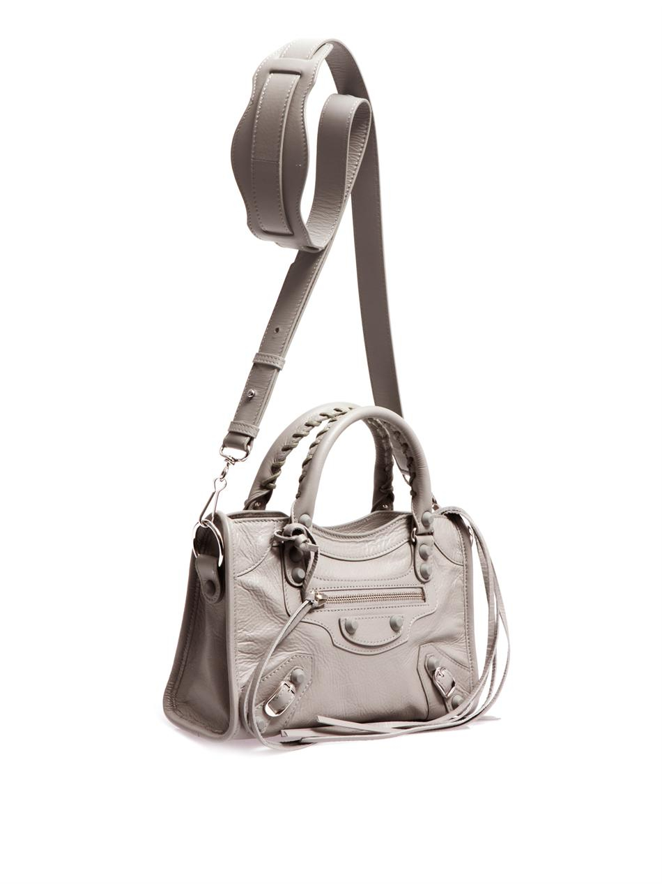 Lyst Balenciaga Classic Mini City Leather Shoulder Bag