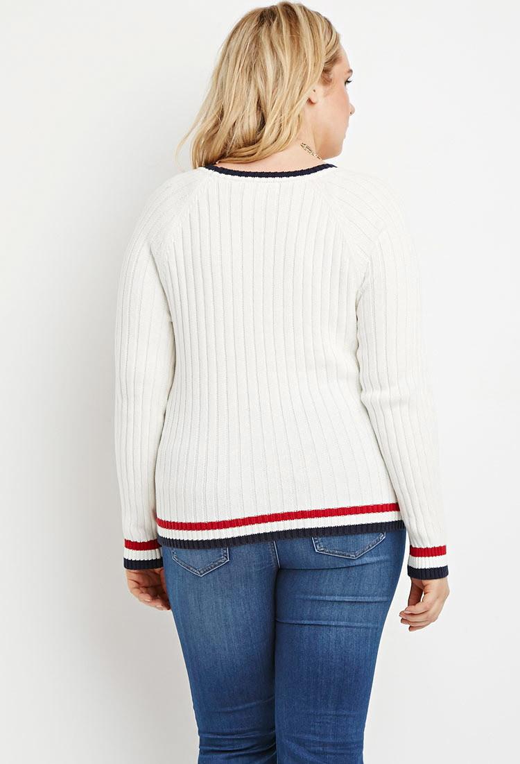 Varsity Stripe Sweater Forever 21 79