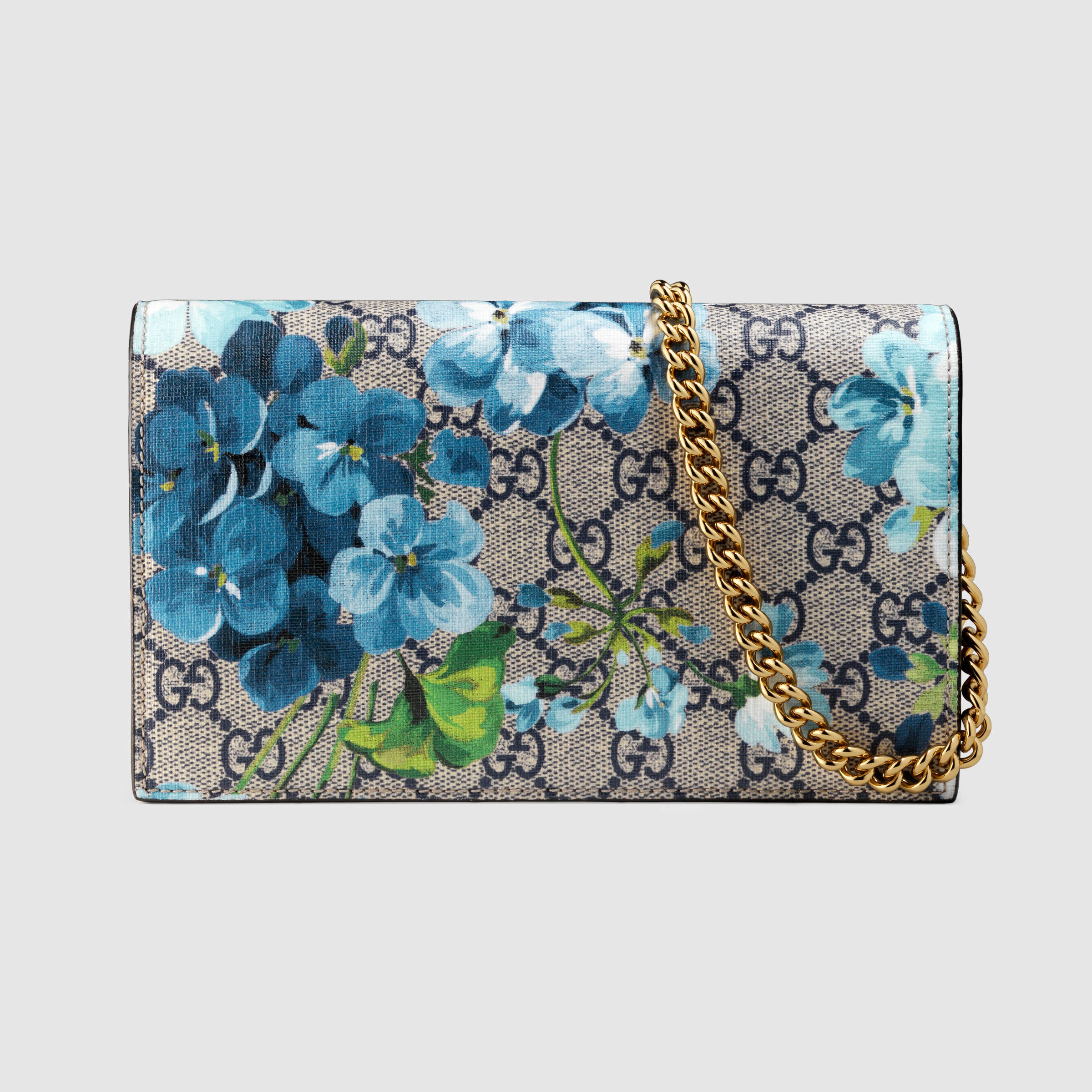 Lyst - Gucci Gg Blooms Supreme Chain Wallet