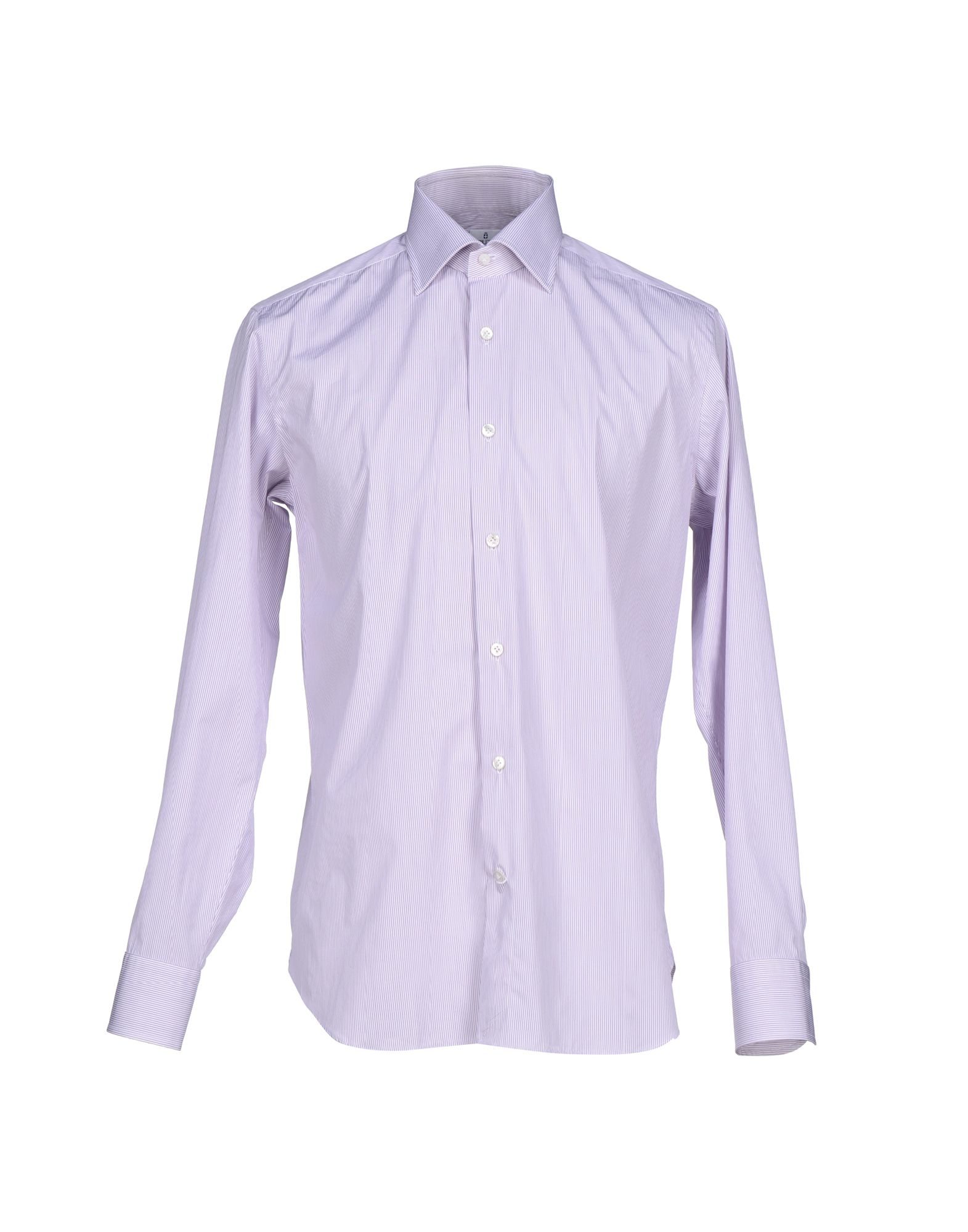 Lyst truzzi shirt in purple for men Light purple dress shirt men