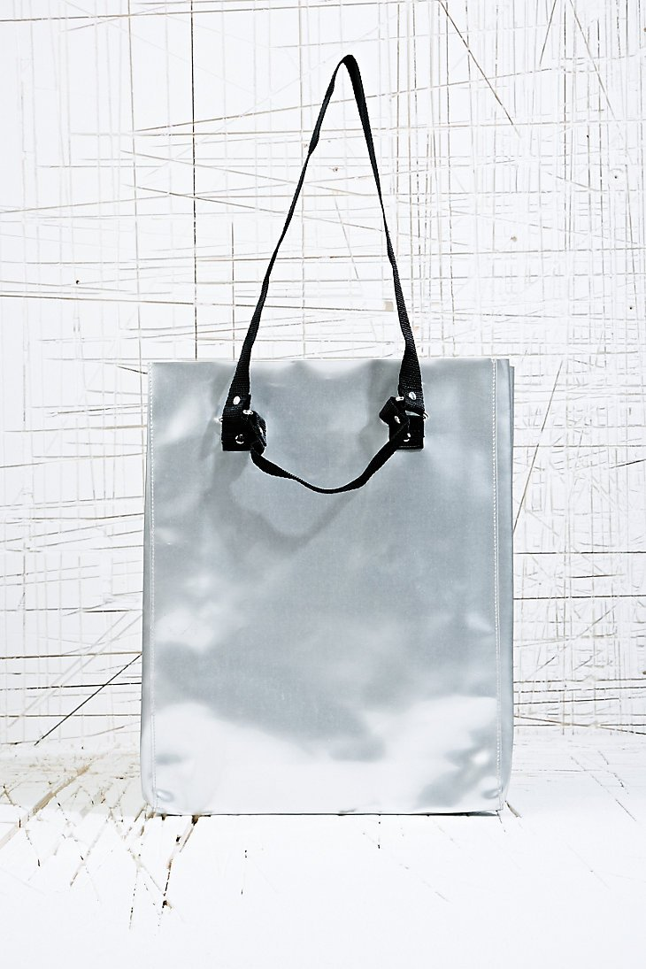 Cheap Monday Silver Shine Tote Bag in Metallic