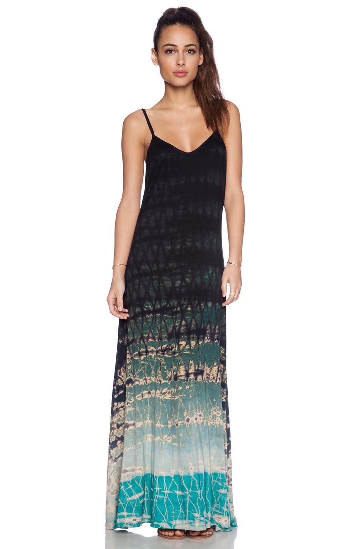 Gypsy 05 Spaghetti Strap Maxi Dress In Black Seafoam Lyst