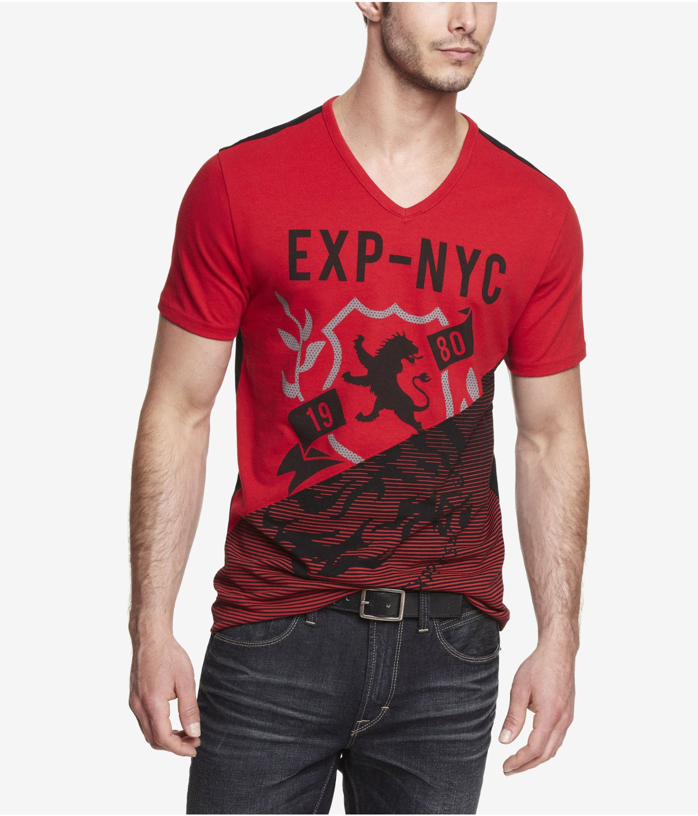 Lyst Express Color Block Graphic Tee Mix Master Exp In
