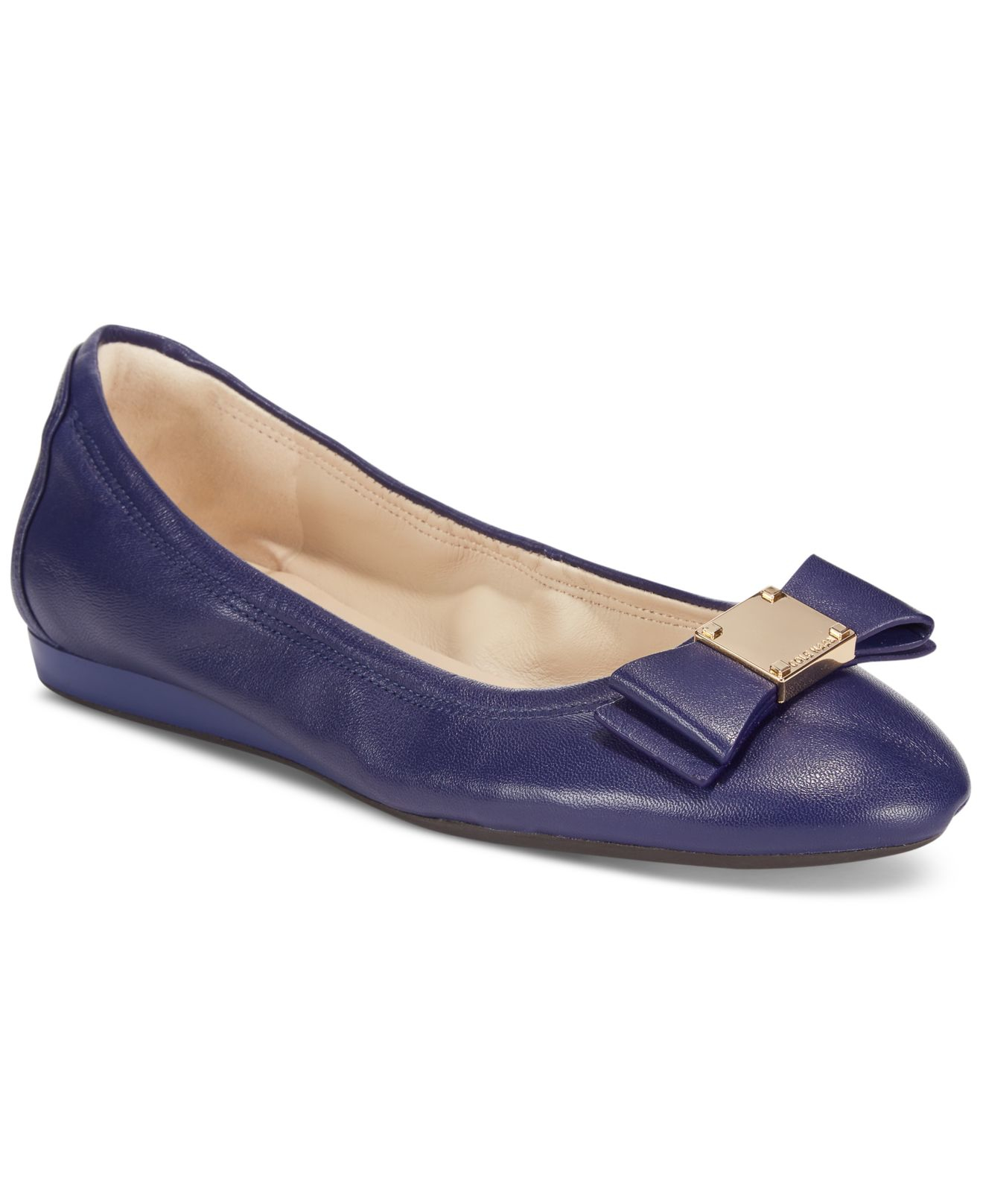 Cole Haan Tali Bow Ballet Flats In Blue Lyst