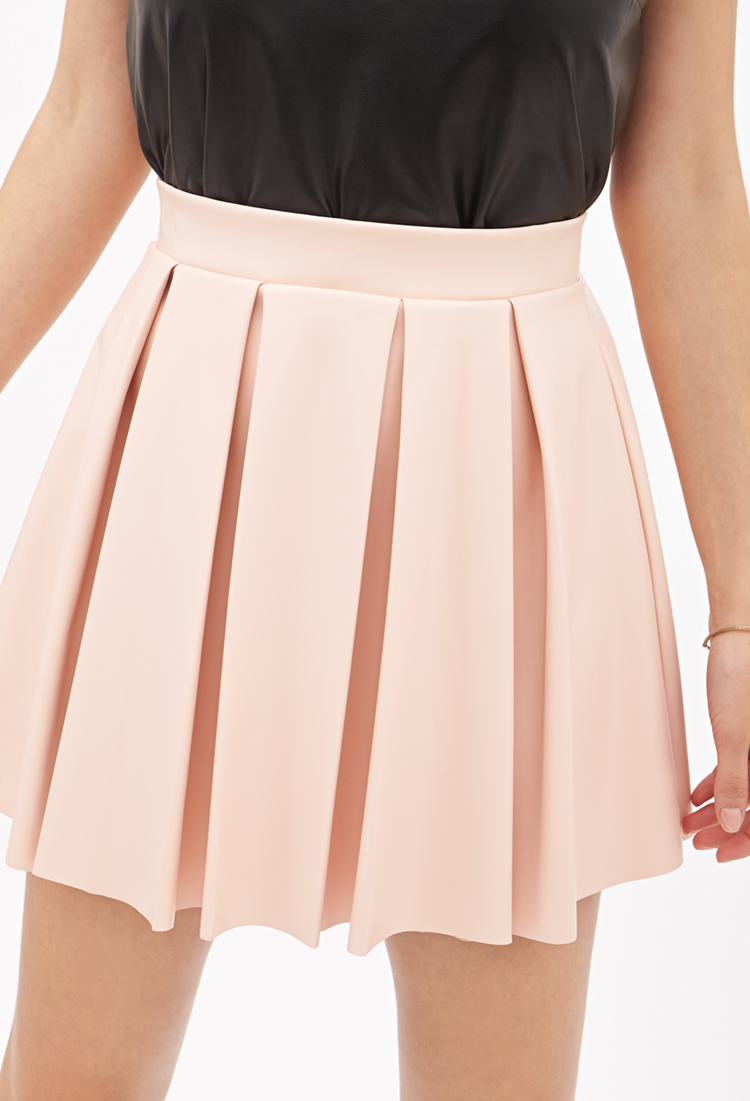 Forever 21 Pleated Faux Leather Skirt You've Been Added To The ...