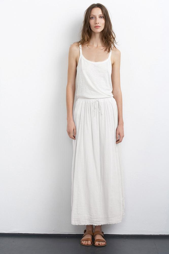 velvet by graham spencer sabiya cotton gauze maxi skirt