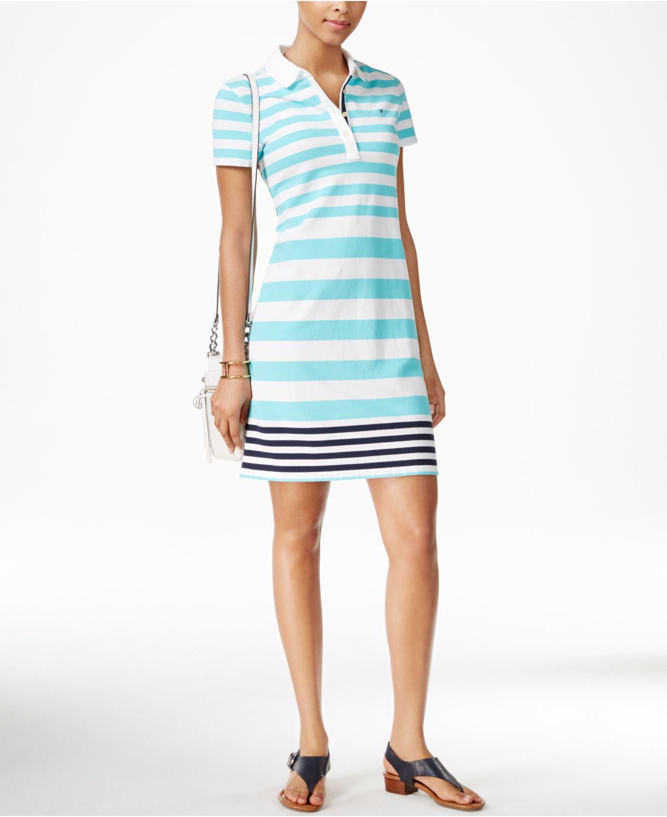 Blue polo shirt dress