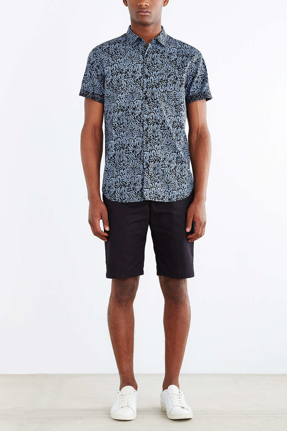 Lyst - Your neighbors Short-sleeve Kieran Printed Button-down ...