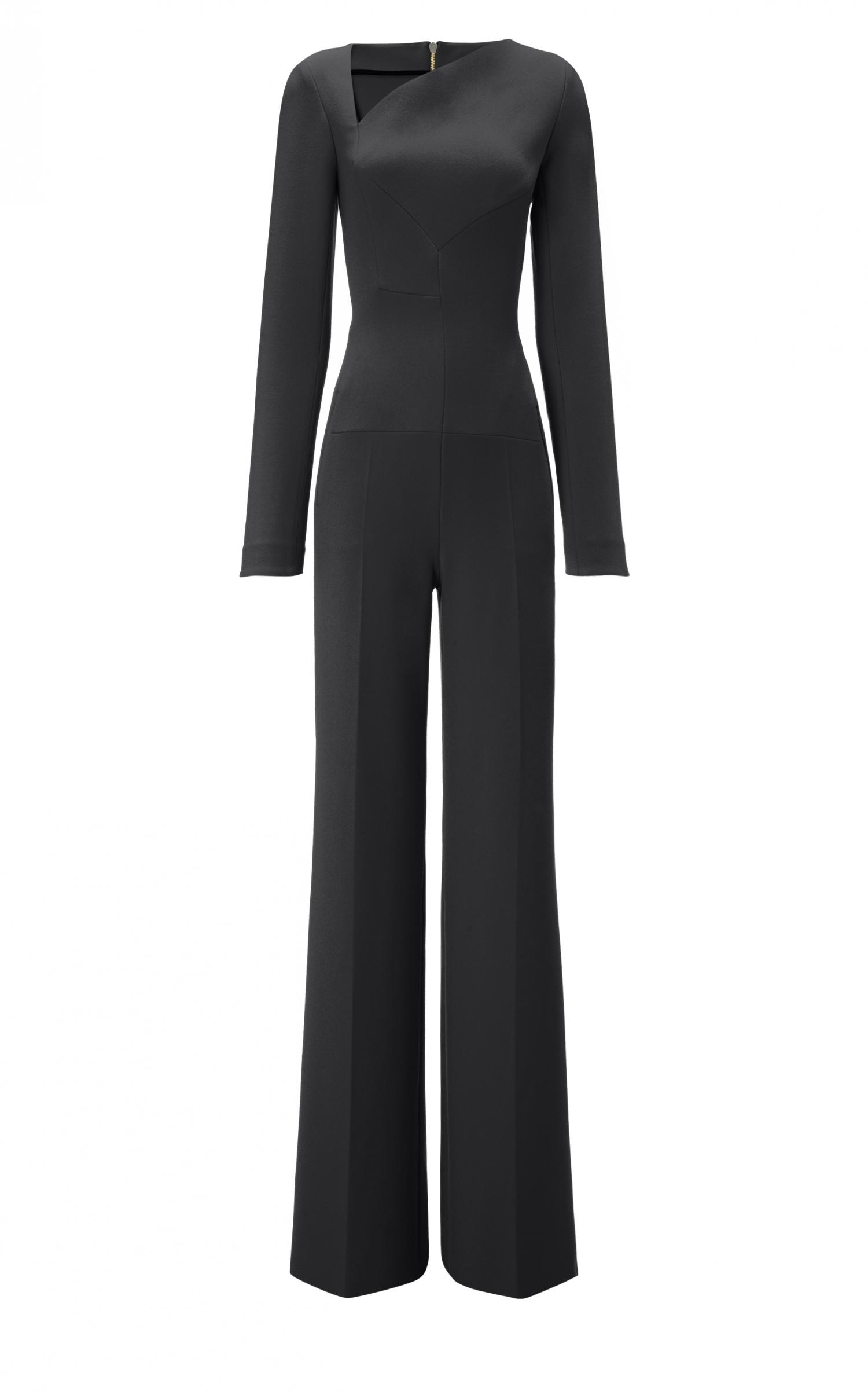 1b58b177b797 Lyst - Roland Mouret Herring Jumpsuit in Black
