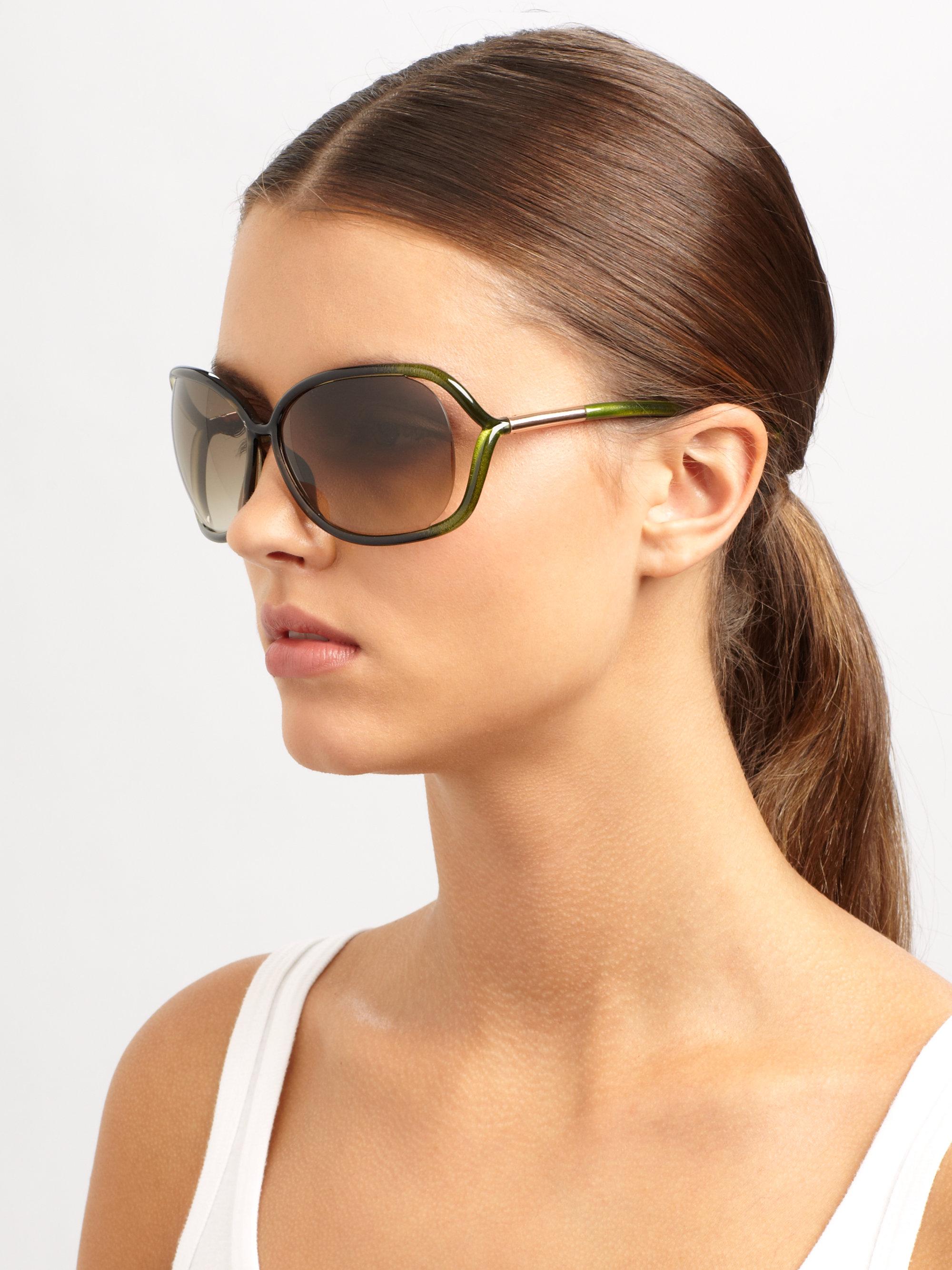 68mm Ford Oval Raquel Green Tom Sunglasses dCxoBe