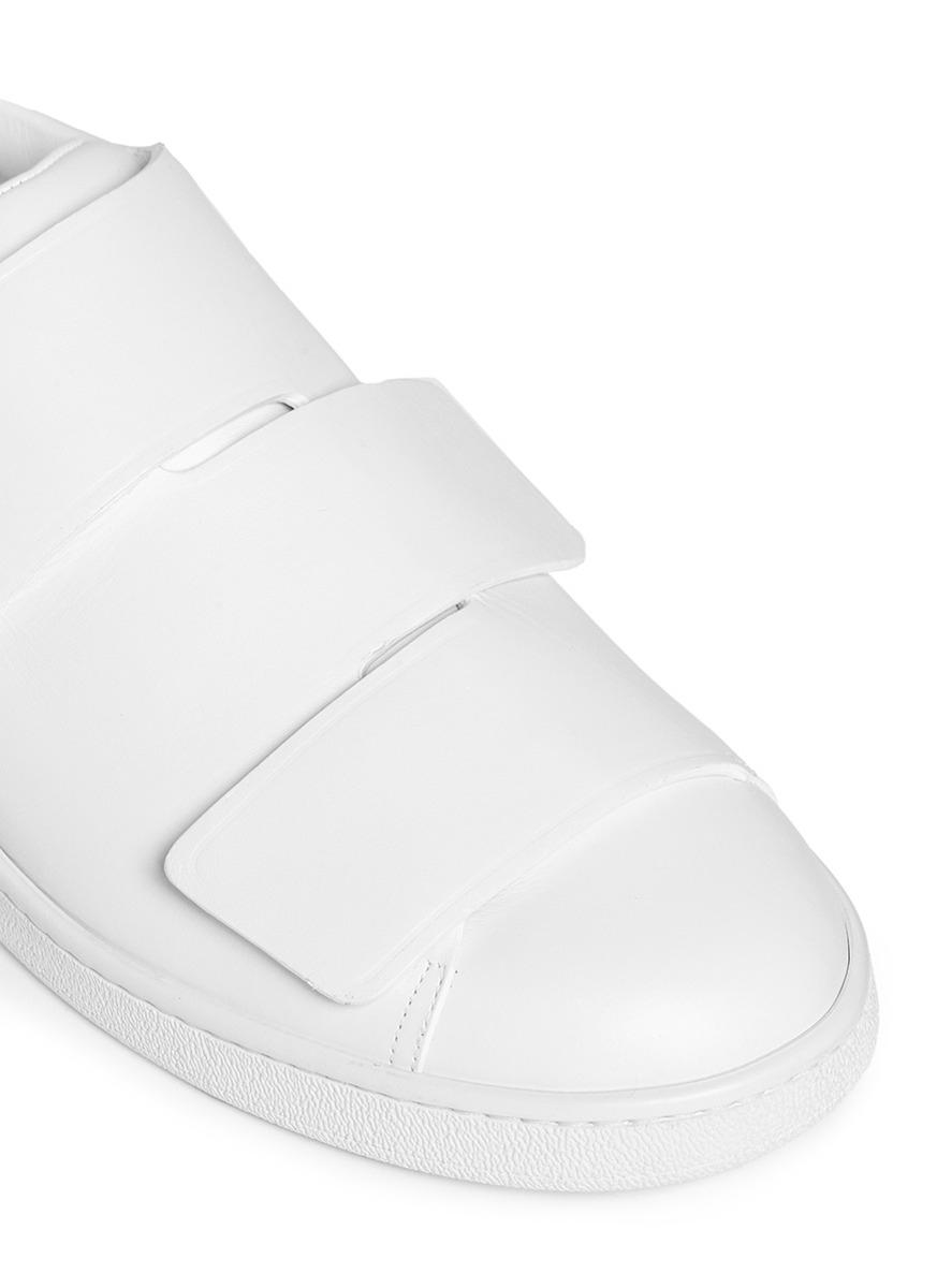 65064abb8f4e3 Lyst - Acne Studios  triple Lo  Velcro Strap Leather Shoes in White ...