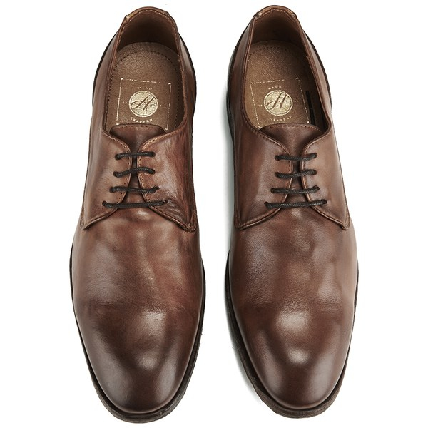 H by Hudson Men s Dylan Drum Dye Derby Shoes in Brown for Men - Lyst a9f49043f