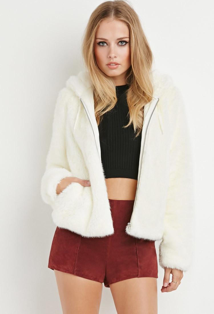 Faux fur hoodies