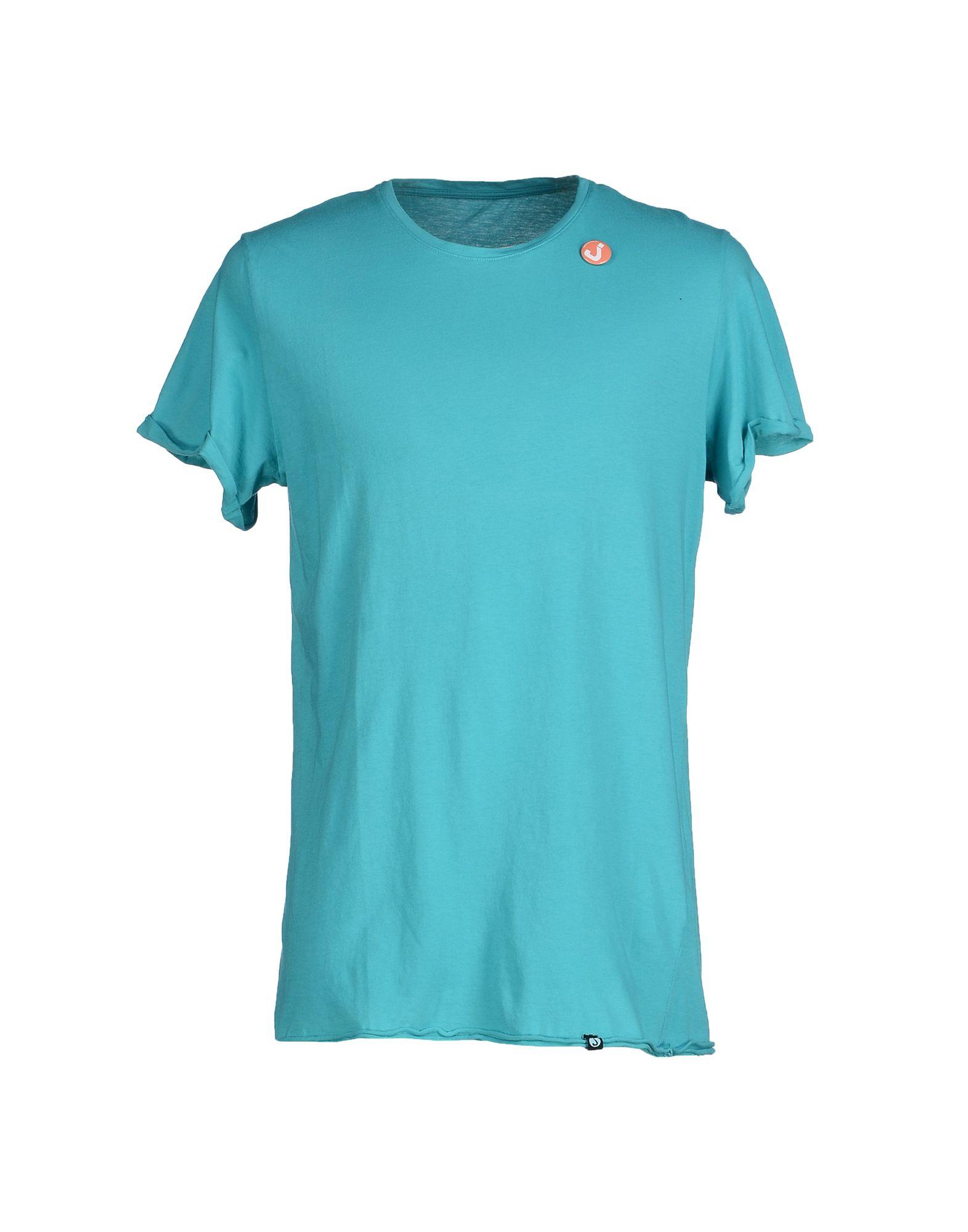Jcolor t shirt in blue for men turquoise lyst for Aqua blue color t shirt