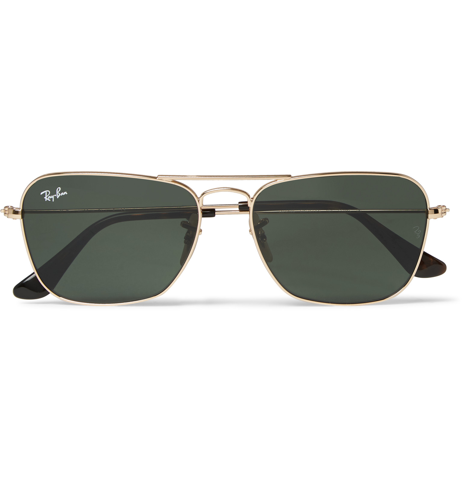 1b5e271be0a Ray-Ban Square-frame Gold-tone Sunglasses in Metallic for Men - Lyst