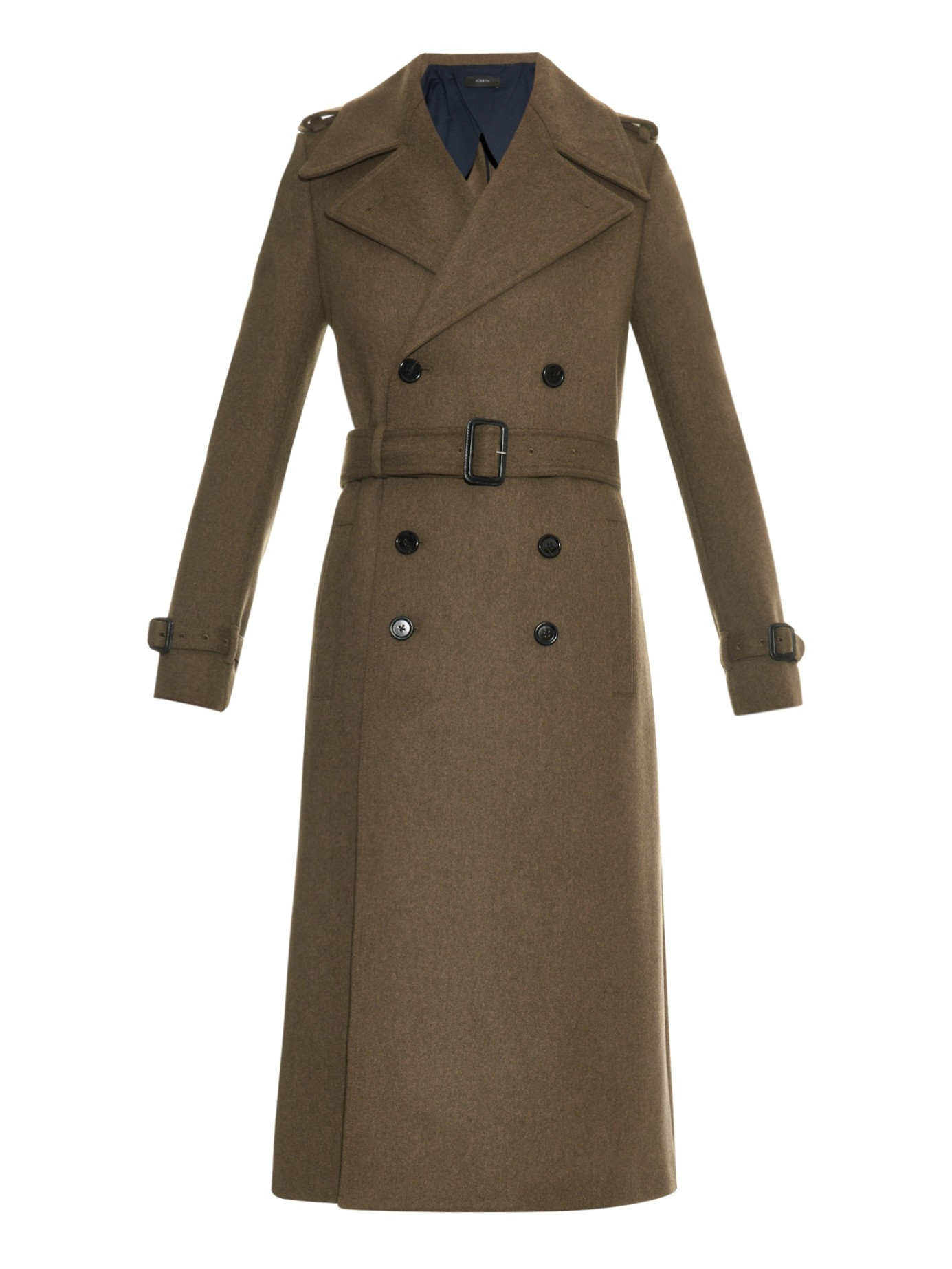 Joseph Military Tweed Trench Coat In Natural Lyst