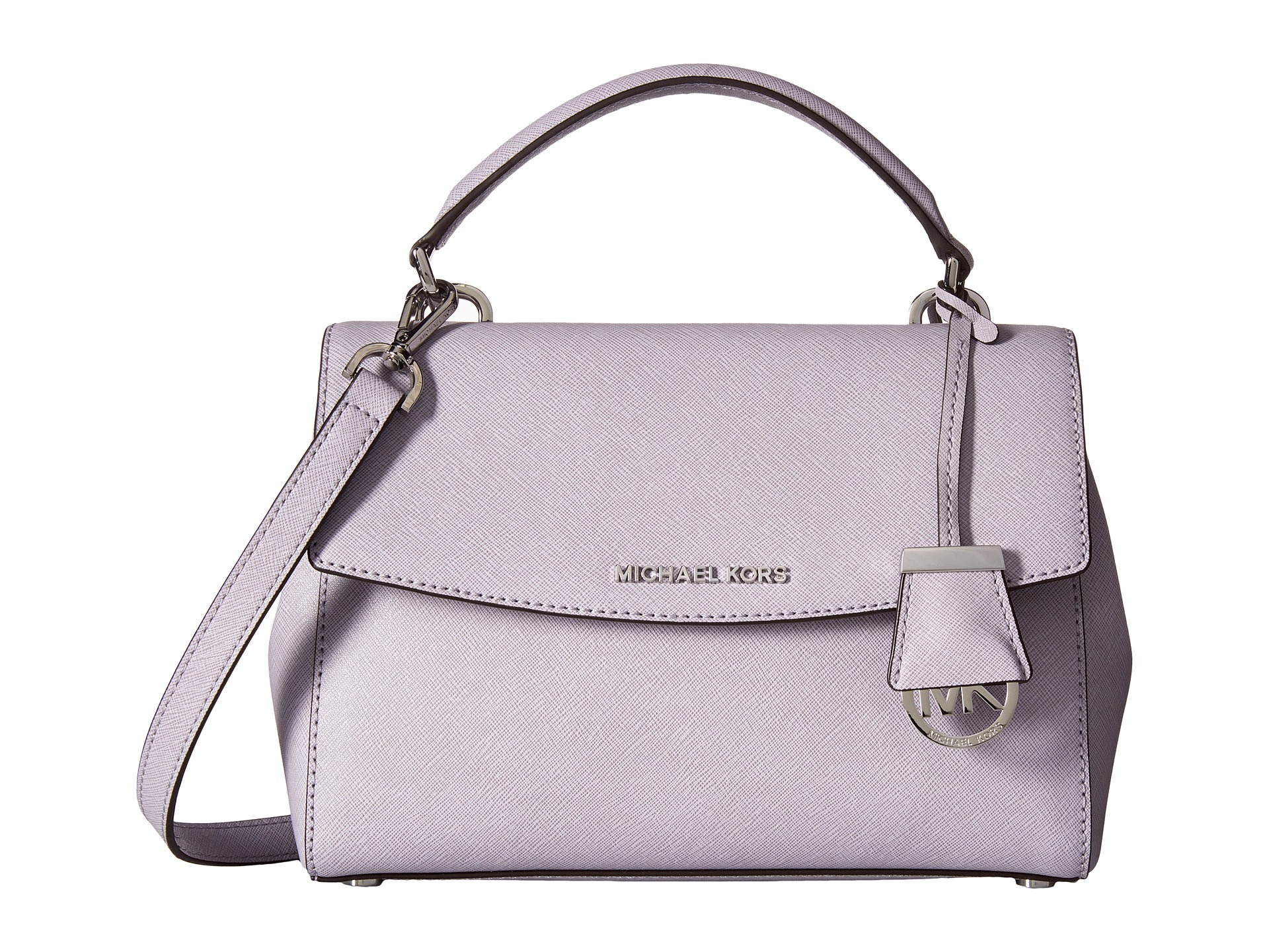 832e6fe601c0 order michael kors nylon crossbody bag 29d4c 76e19  coupon for lyst michael  michael kors ava small top handle satchel in purple f1c9a 91f4c