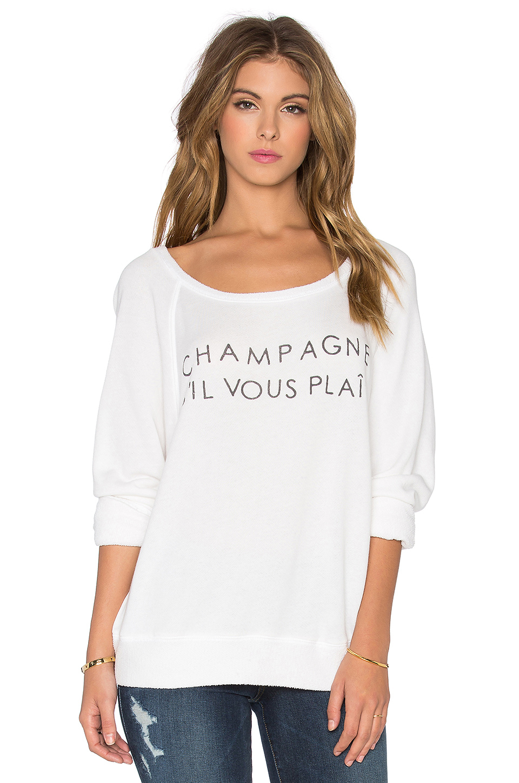 lyst daydreamer champagne s 39 il vous plait sweatshirt in white. Black Bedroom Furniture Sets. Home Design Ideas